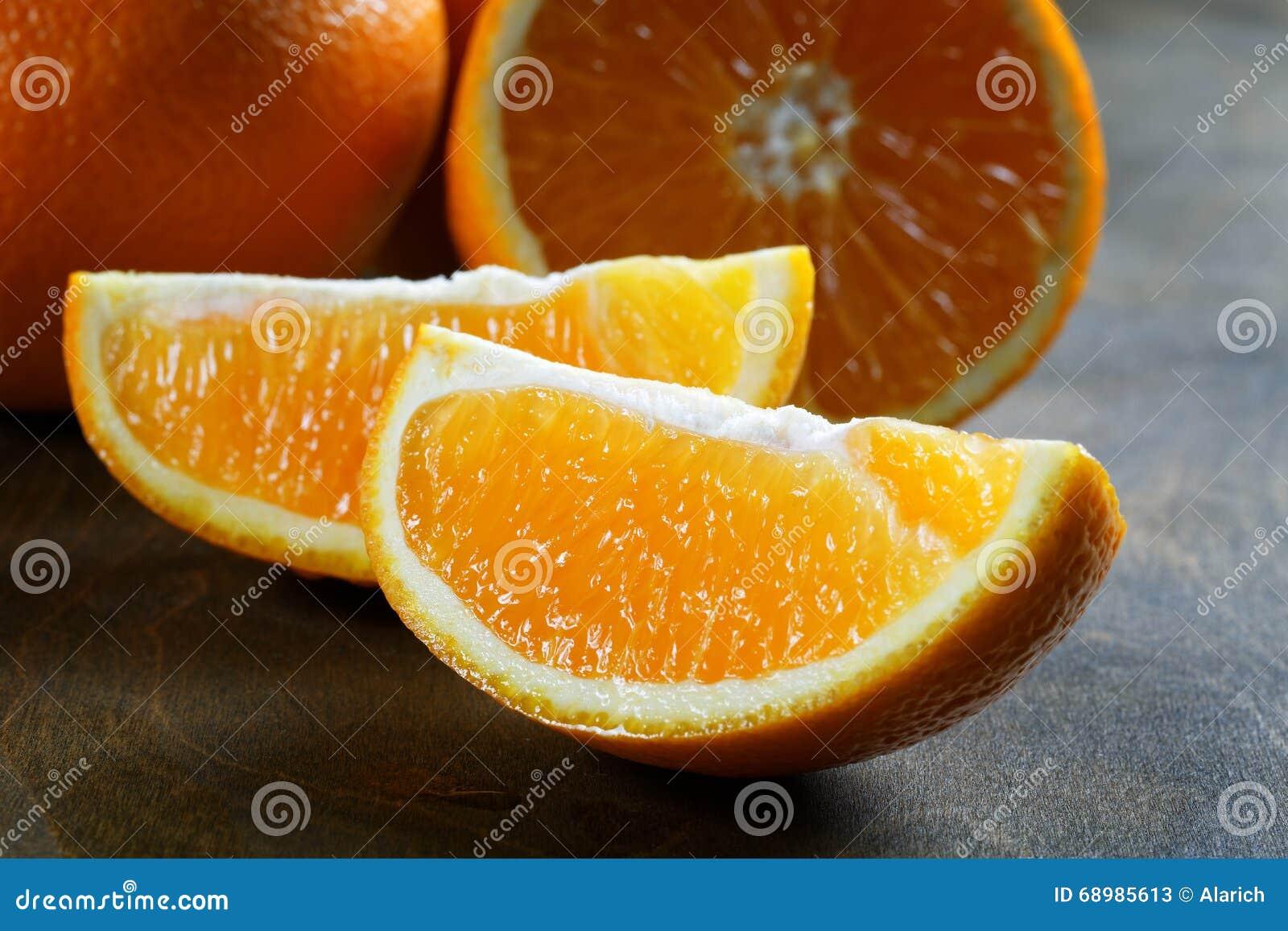 Primer anaranjado de la rebanada