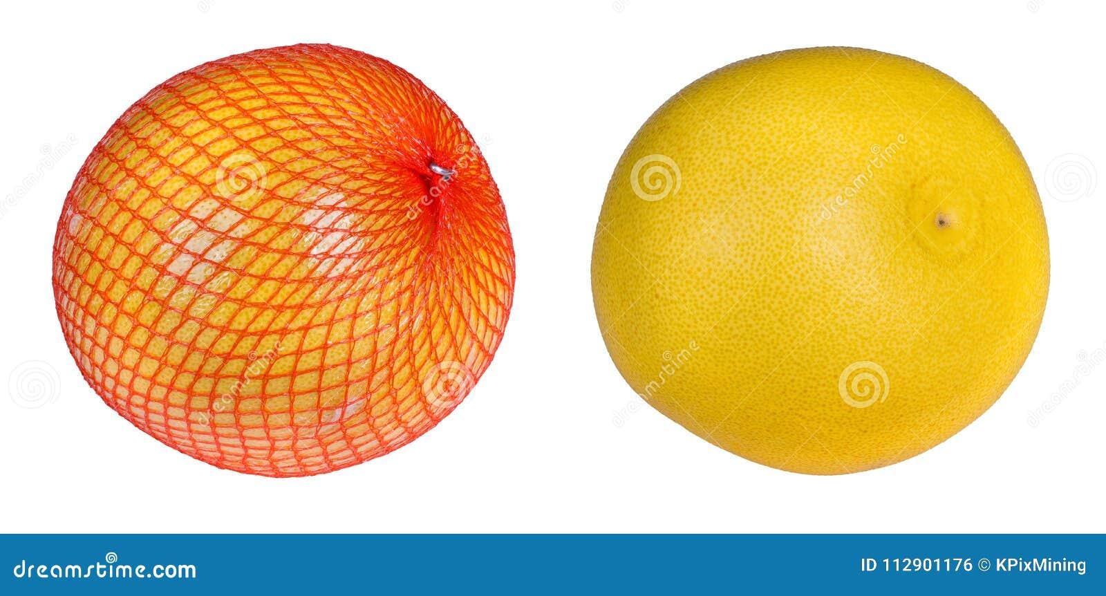 Primer de dos pomelos Grandis de la fruta cítrica