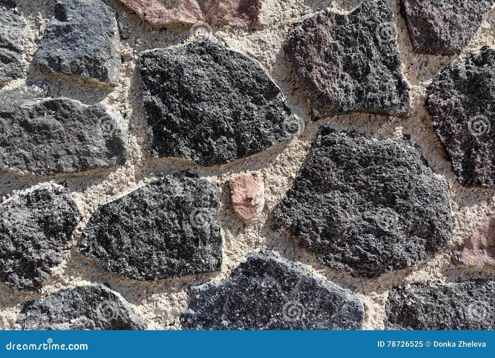 Primer de la pared de piedra volc nica en santorini for Piedra volcanica