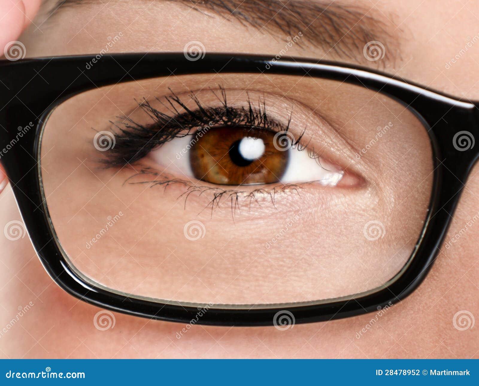 Primer de las gafas de los vidrios