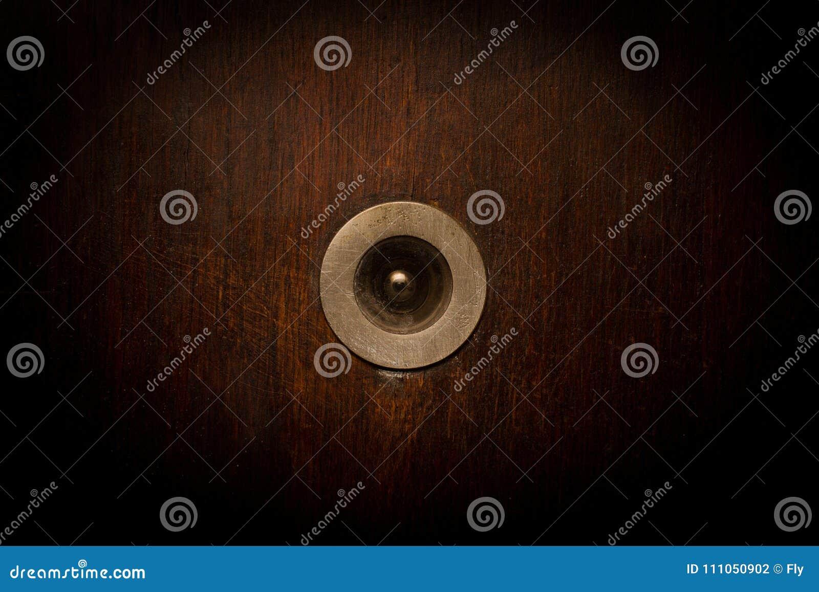 Primer del buscador de madera de opinión del vintage de la puerta