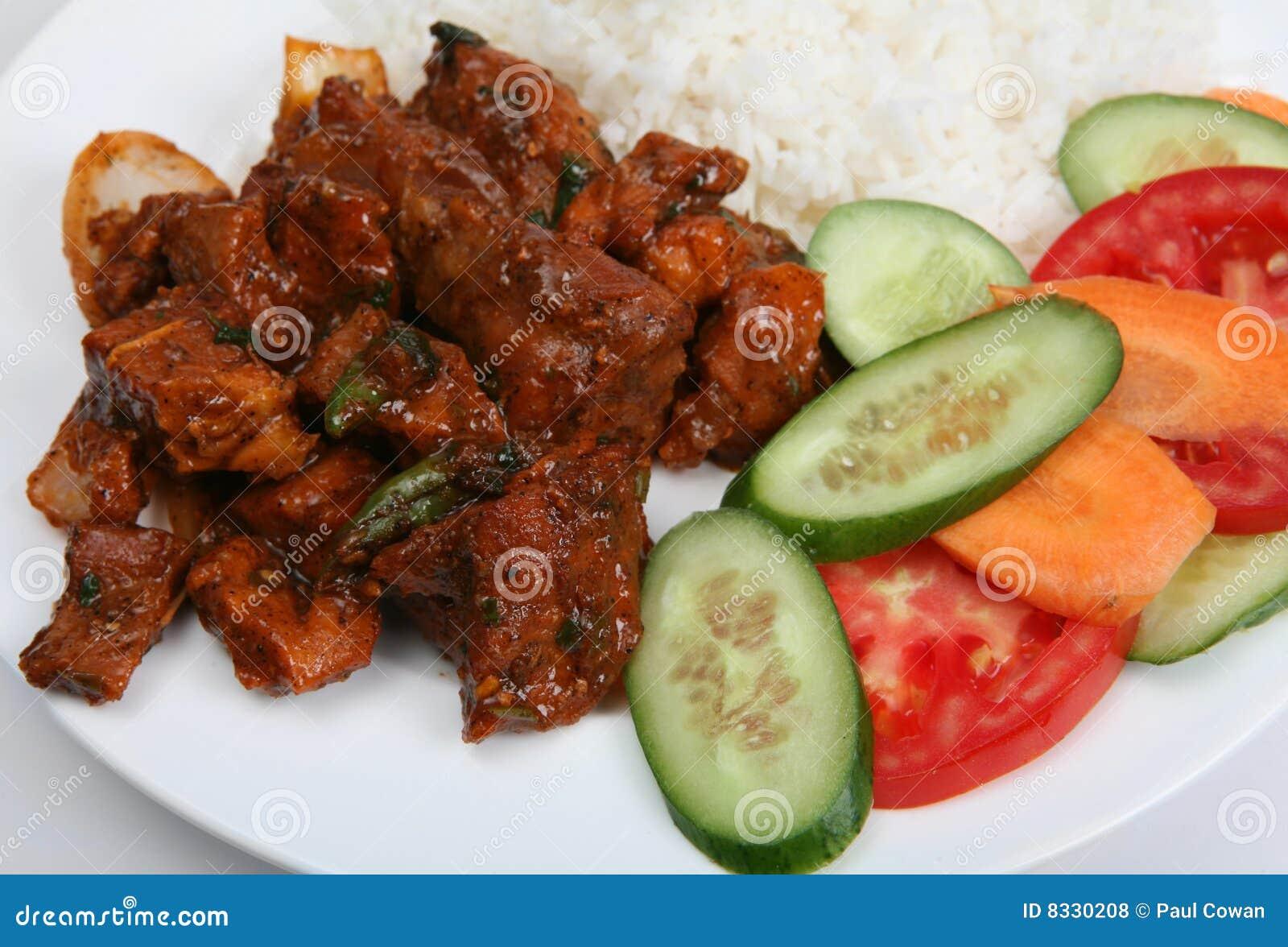 Primer del curry de los chiles de la carne de vaca