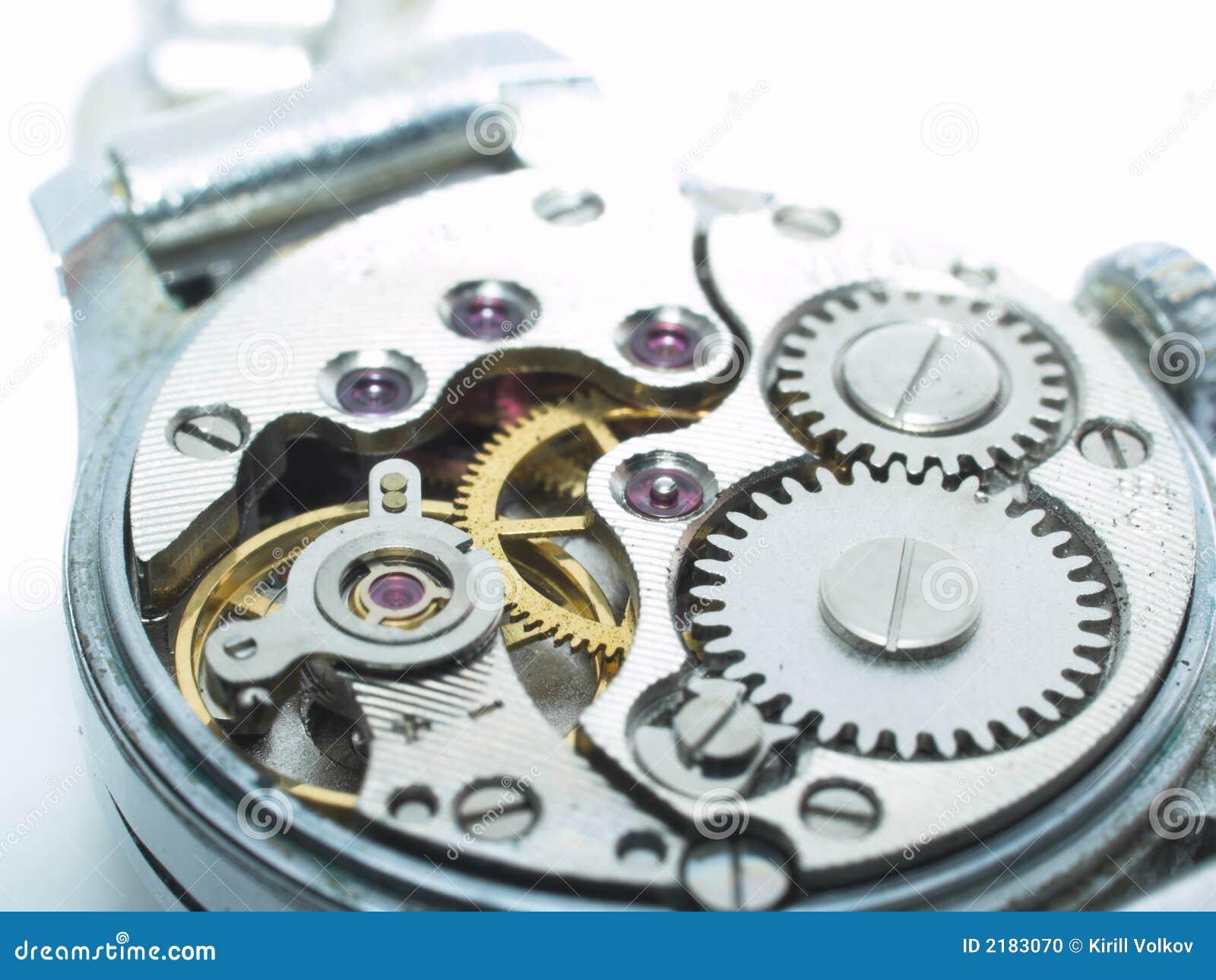 Primer del mecanismo del reloj foto de archivo imagen - Mecanismos de reloj de pared ...
