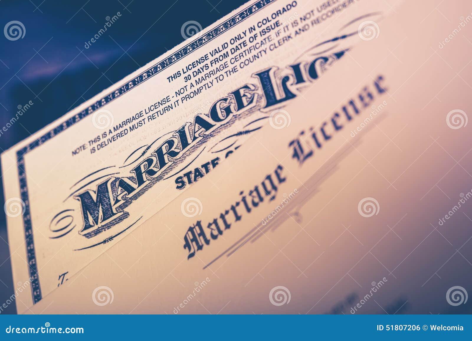 Primer del permiso de matrimonio