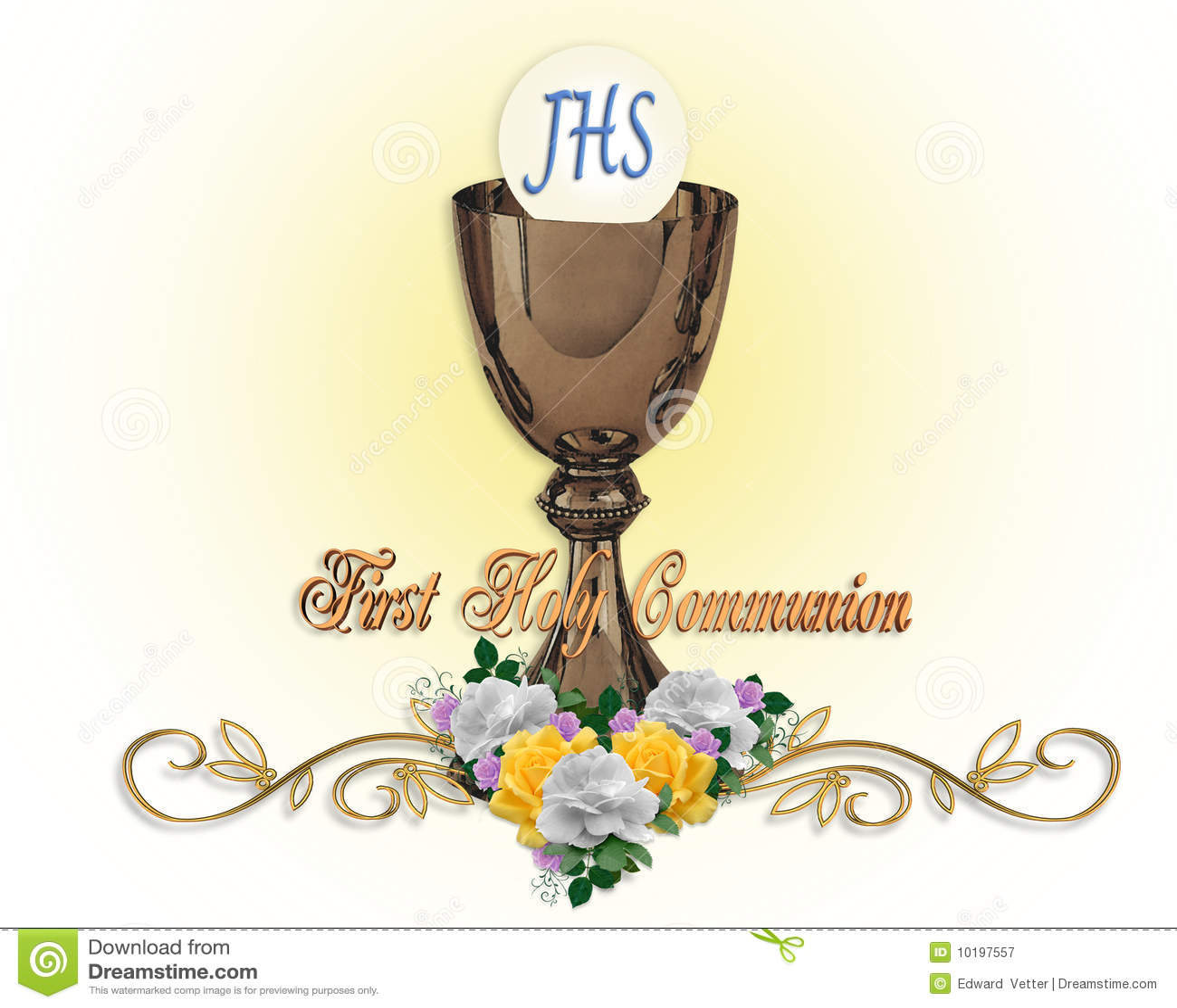 Primer fondo de la invitación de la comunión santa