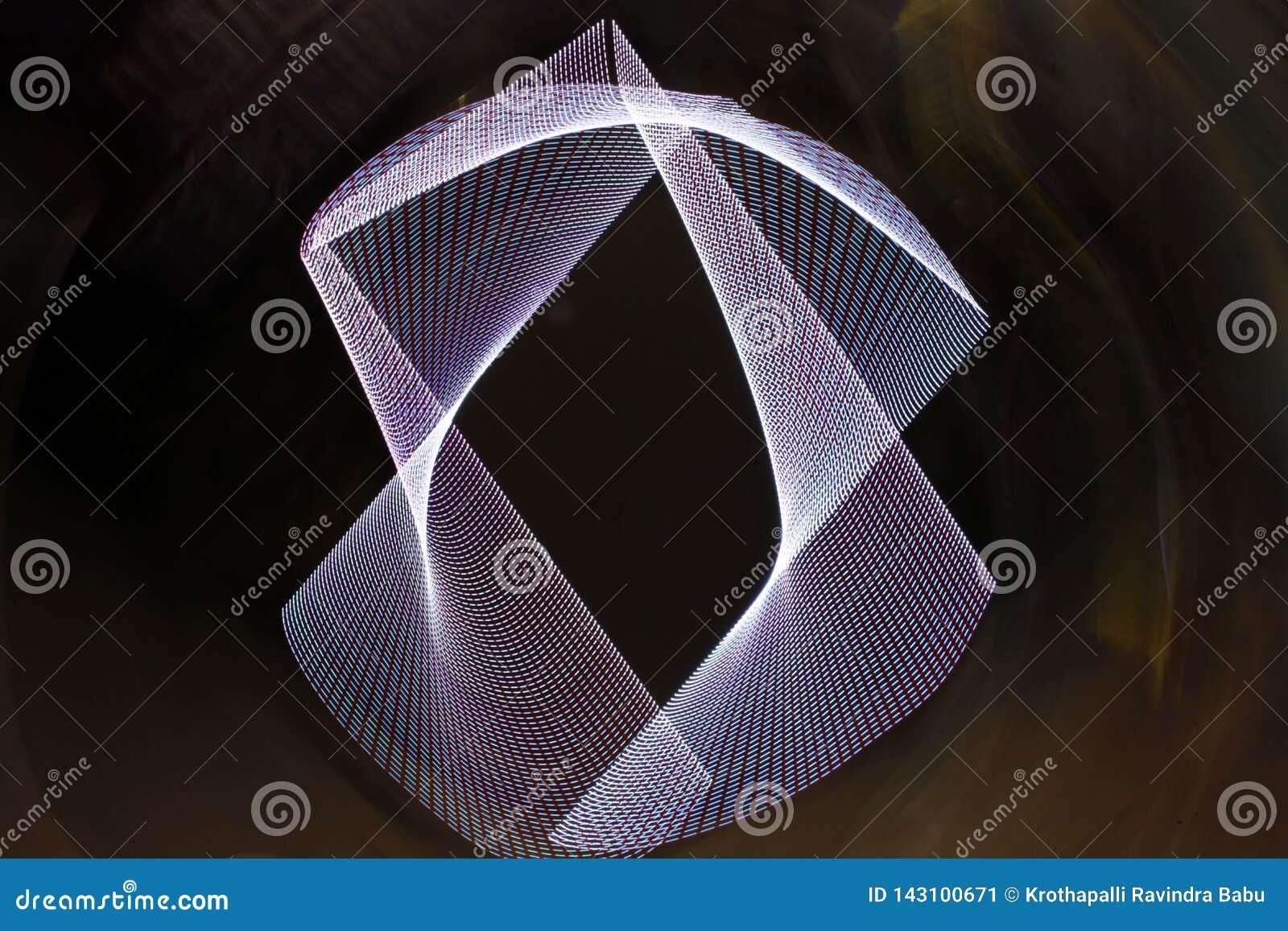 Primer lento abstracto de las luces del obturador