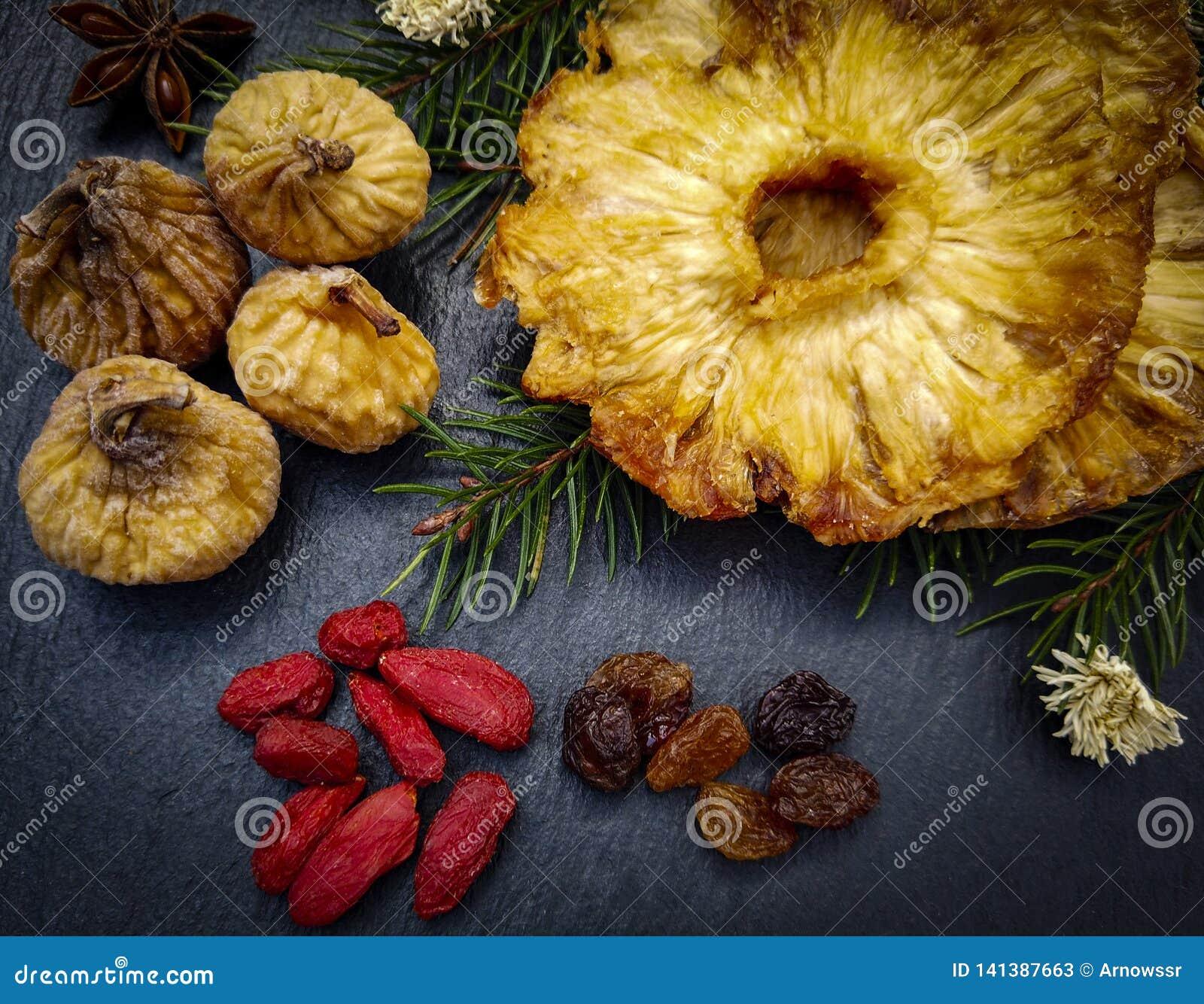 Primer secado de las frutas