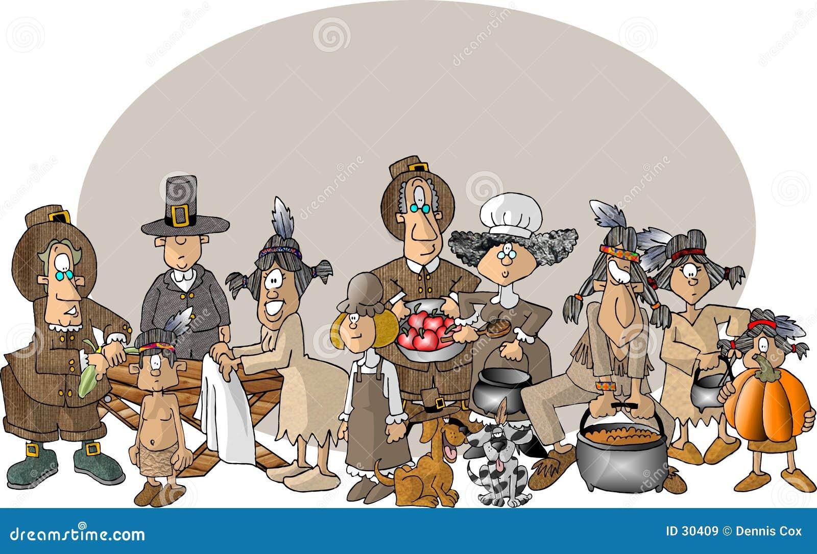 Download Primera acción de gracias stock de ilustración. Ilustración de historieta - 30409
