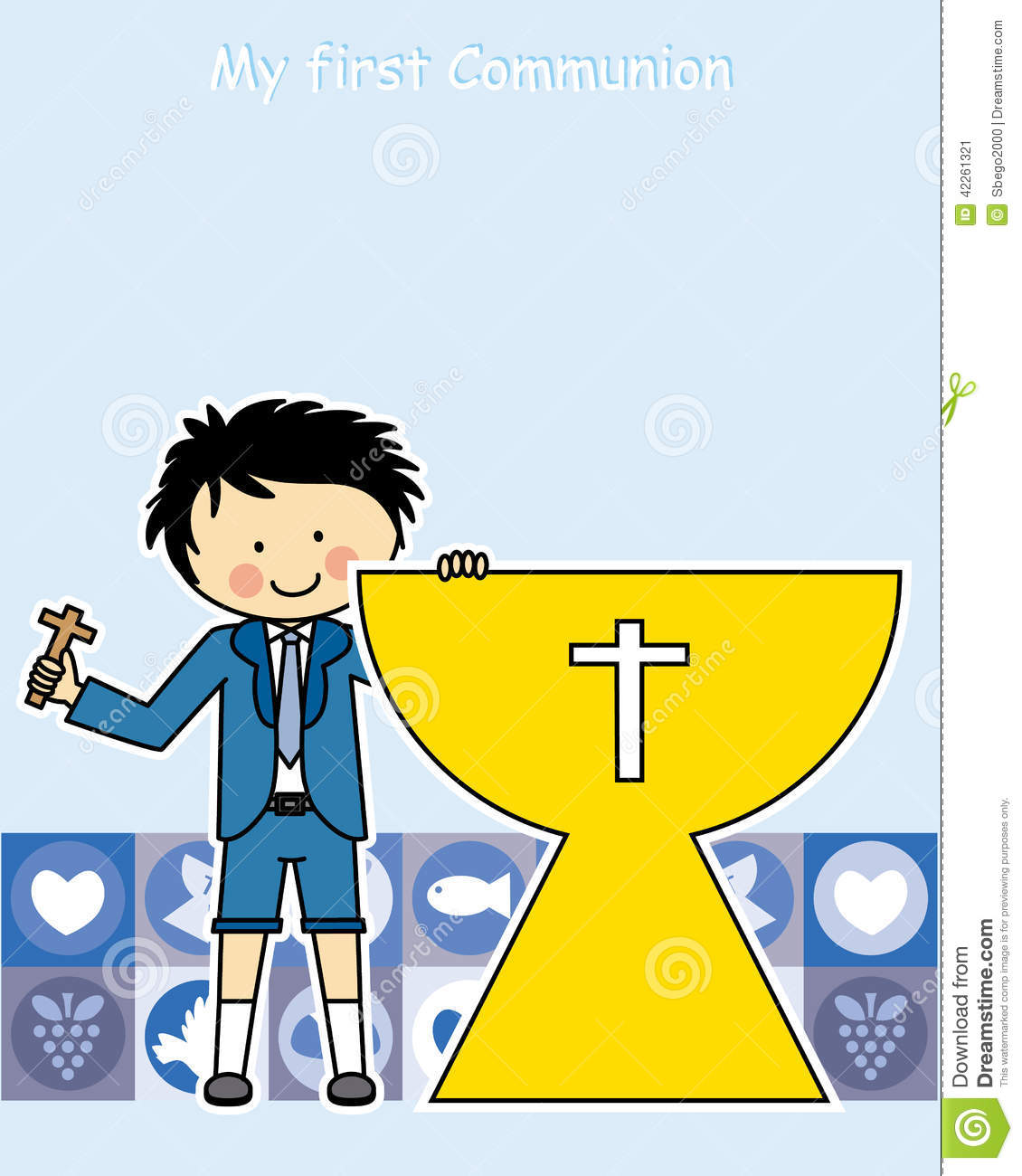 First Communion Invitations for Boys