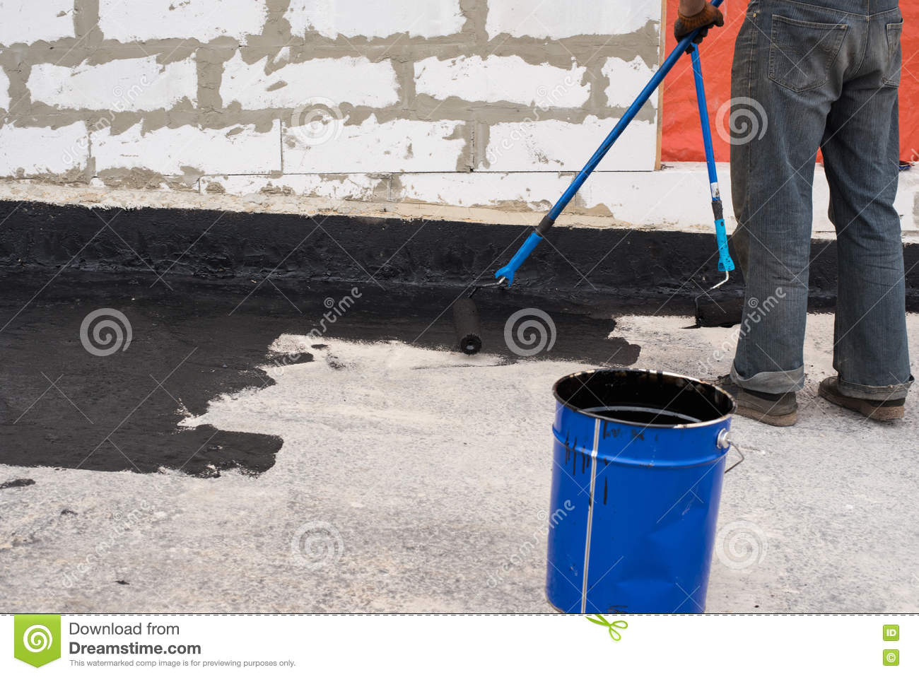 Priming concrete screed stock image  Image of primer - 77545059