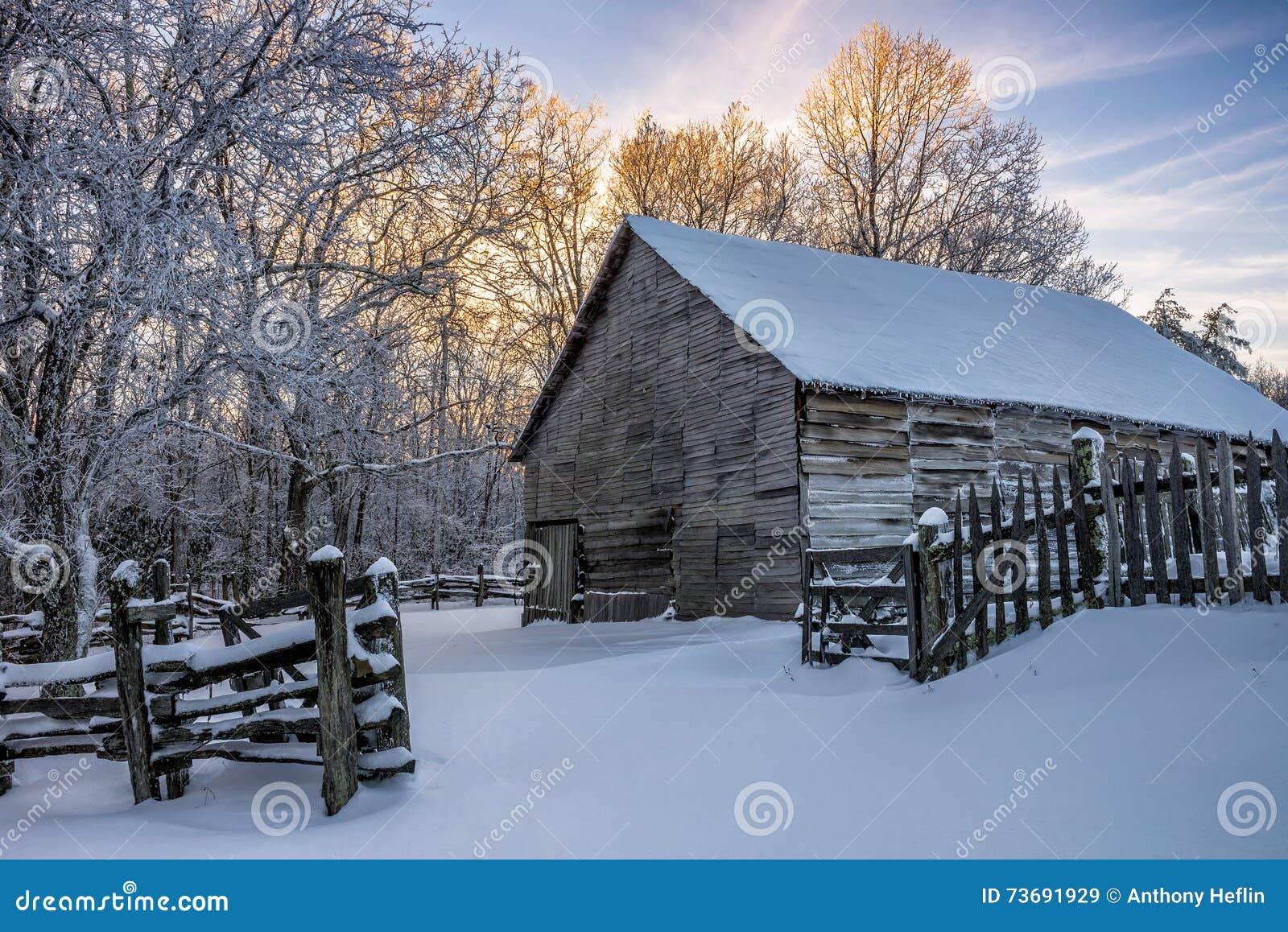 Primitive Barn, Winter Scenic, Cumberland Gap National Park