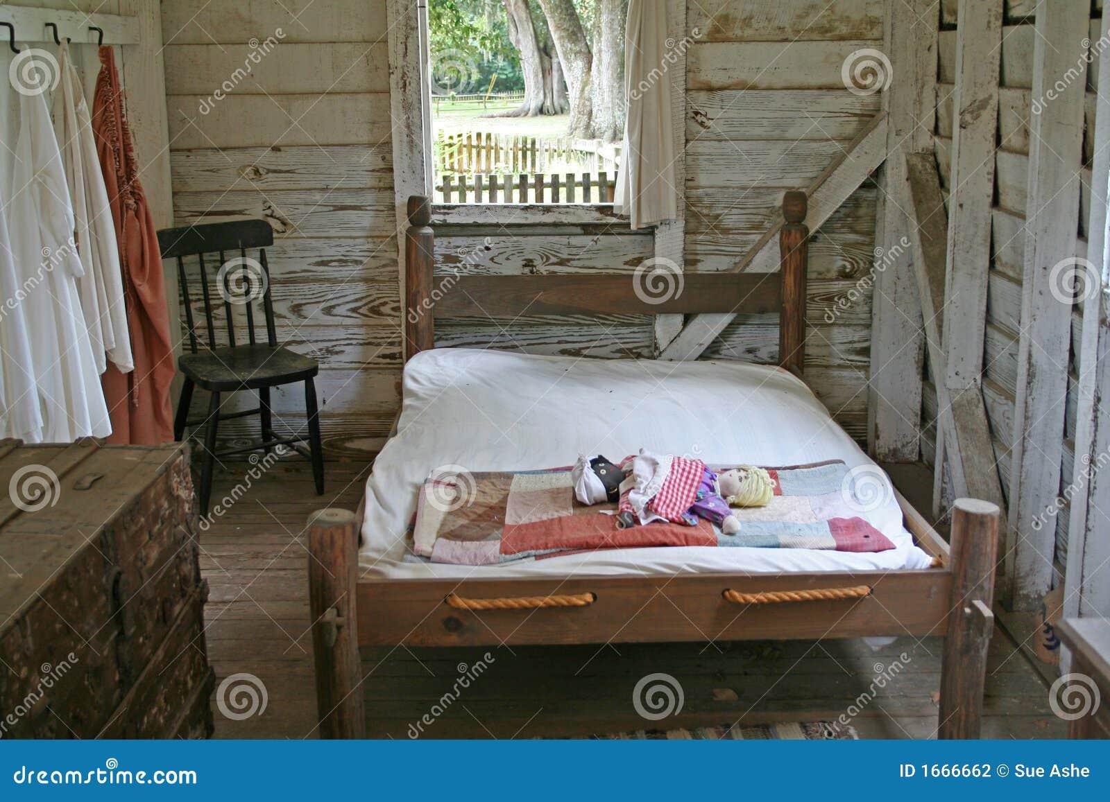 Primitive Bedroom Stock Photography Image 1666662