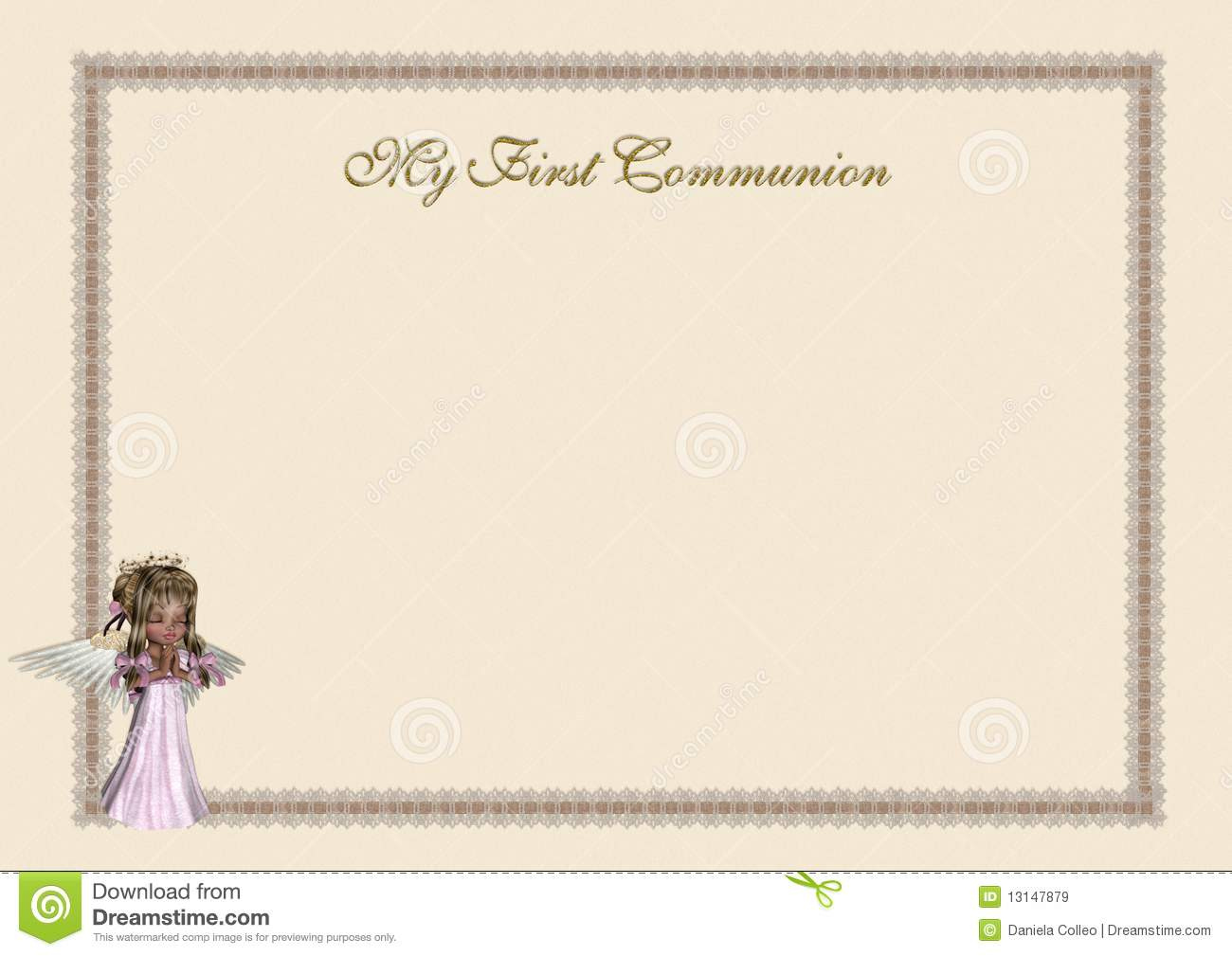 Invitation Letter For First Holy Communion