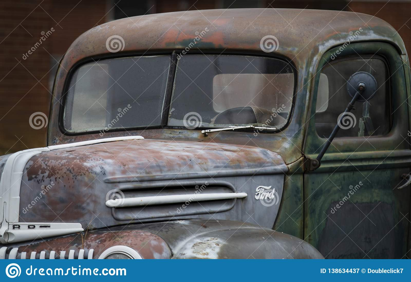 Primo piano antico di Ford Pickup Truck