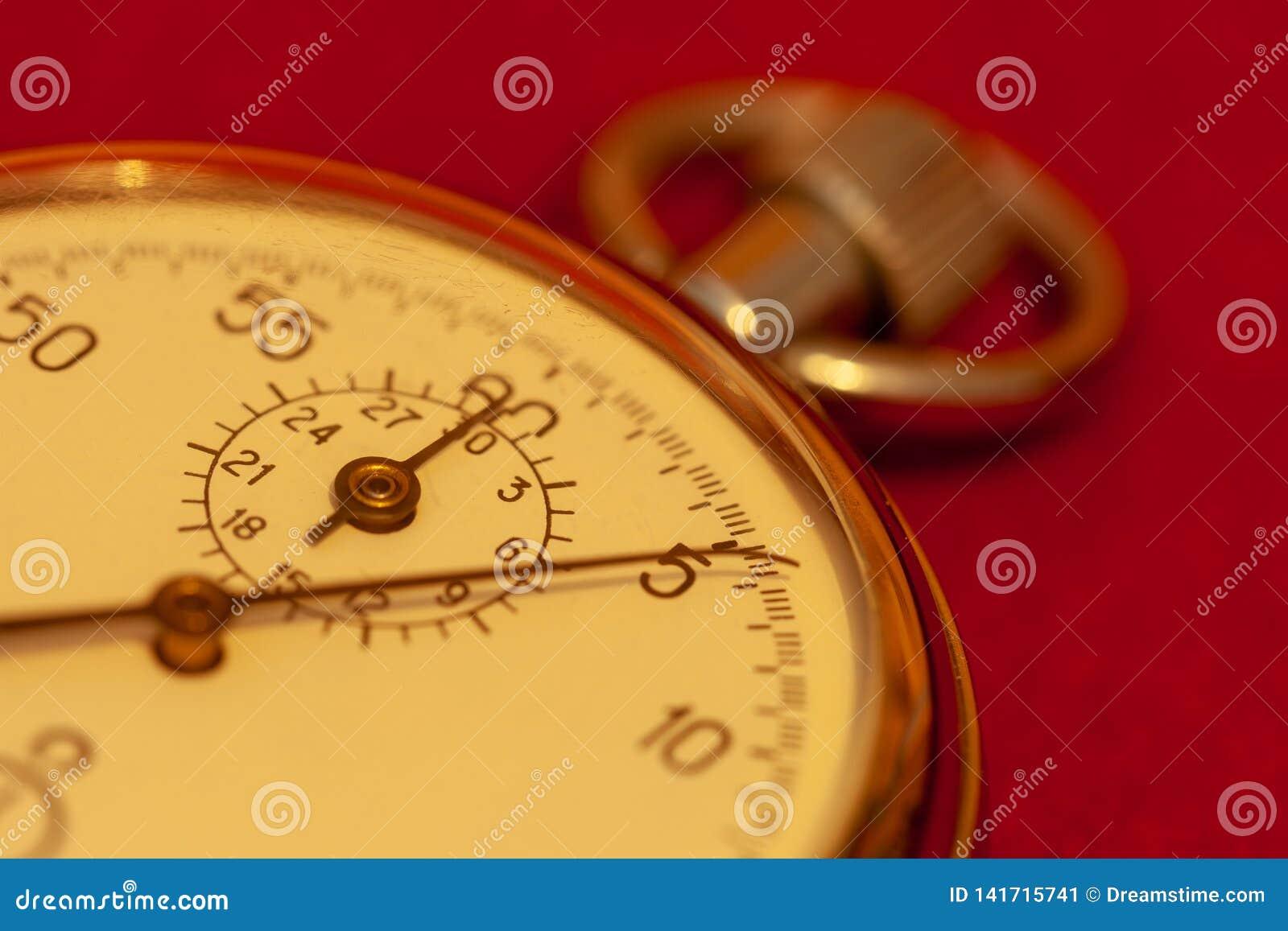 Primo piano d annata del cronometro