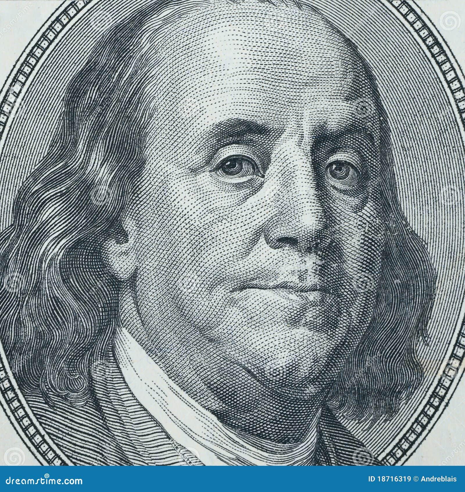 Primo piano del Benjamin Franklin