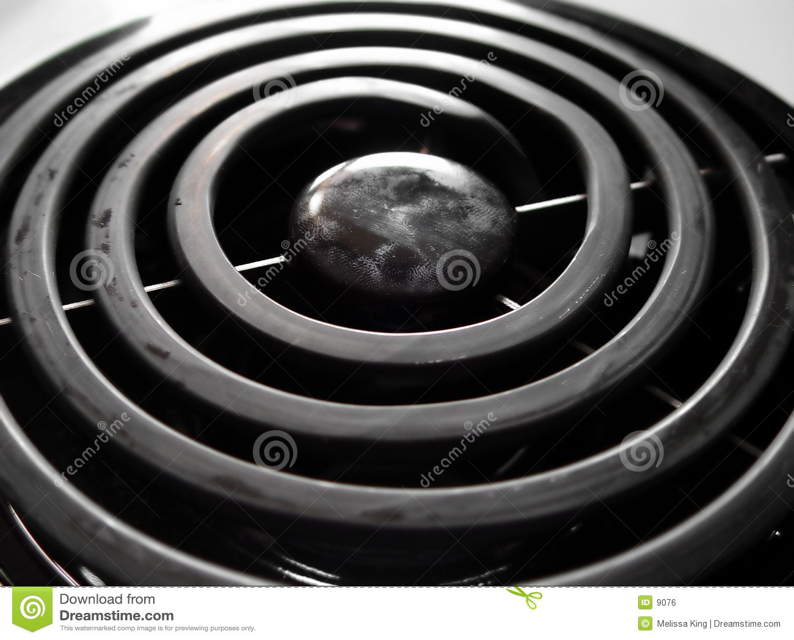 Primo piano del bruciatore della stufa