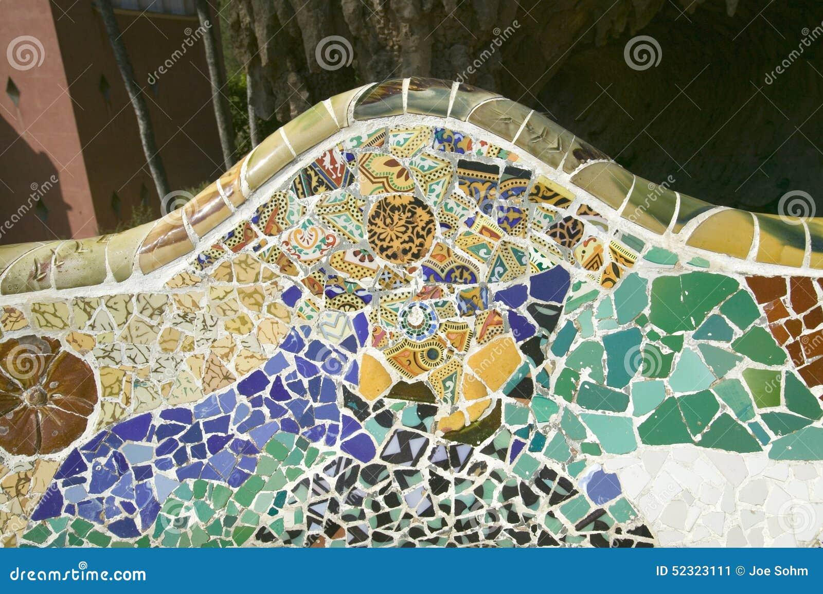 Primo piano del mosaico della piastrella di ceramica colorata da