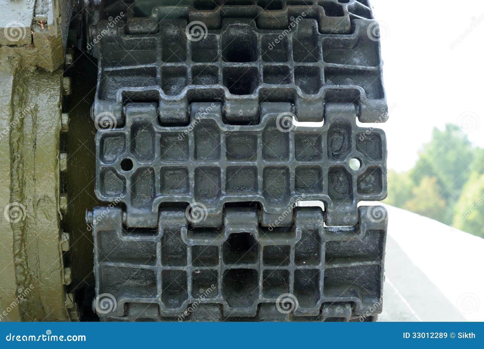 Primo piano del passo di caterpillar del carro armato for Disegni del mazzo del secondo piano