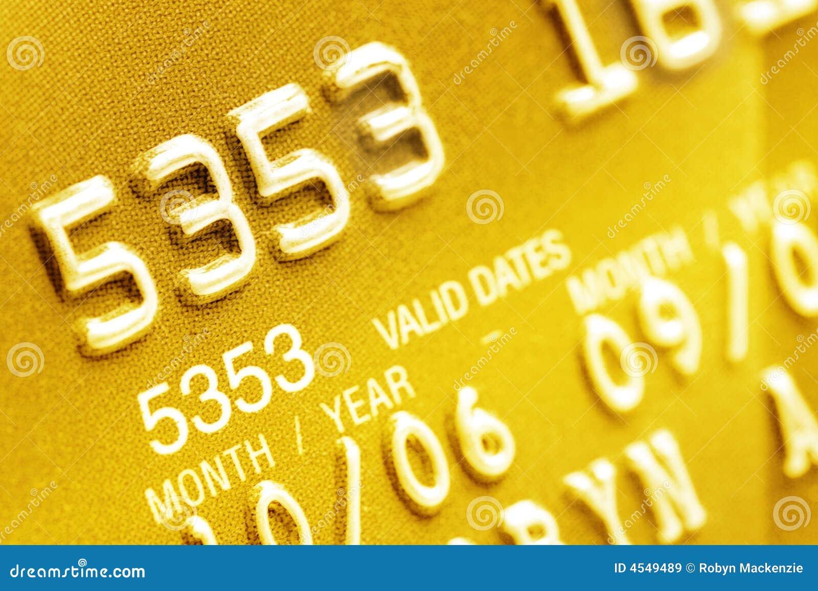 Primo piano della carta di credito