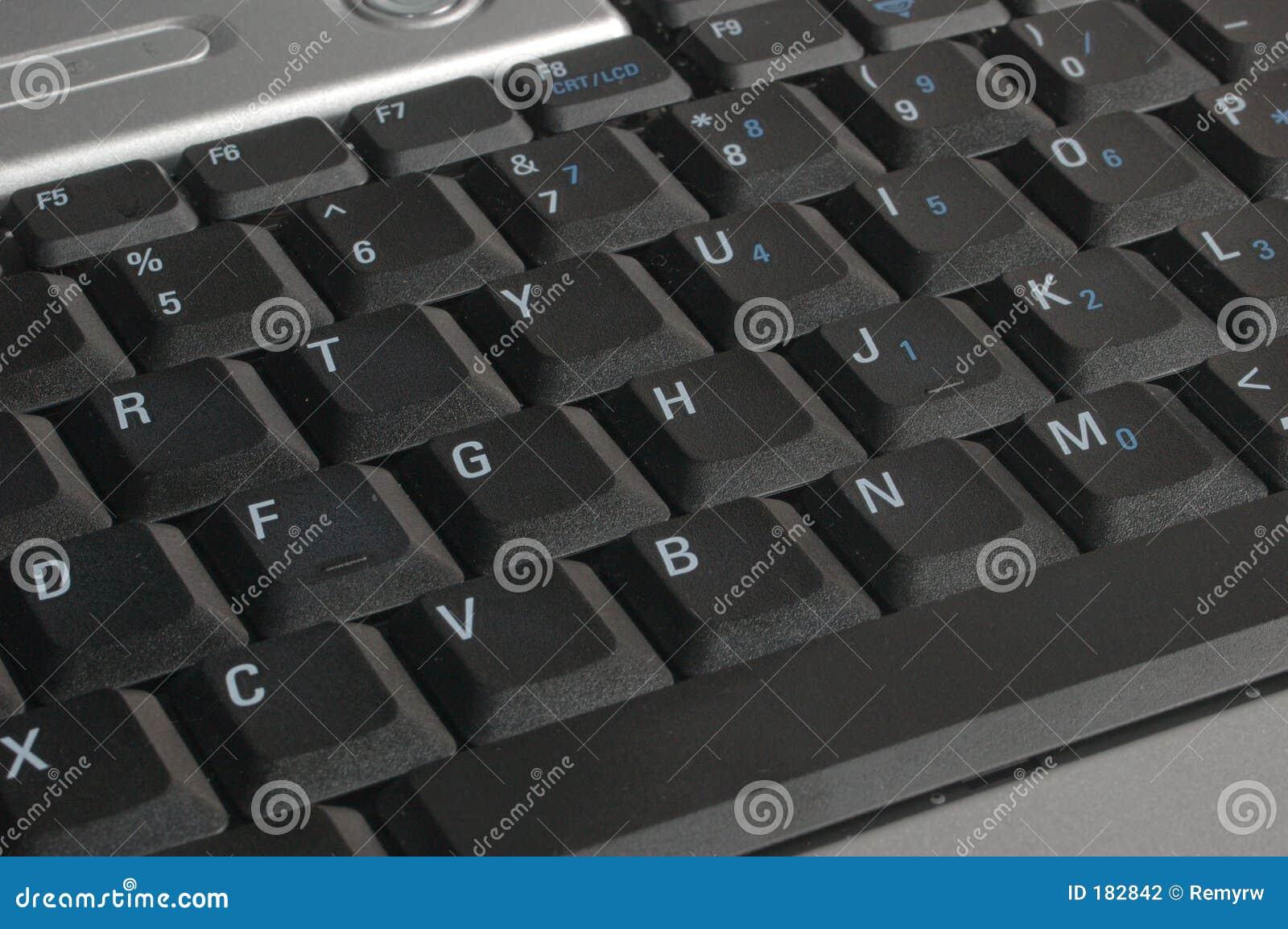 Primo piano della tastiera del computer portatile