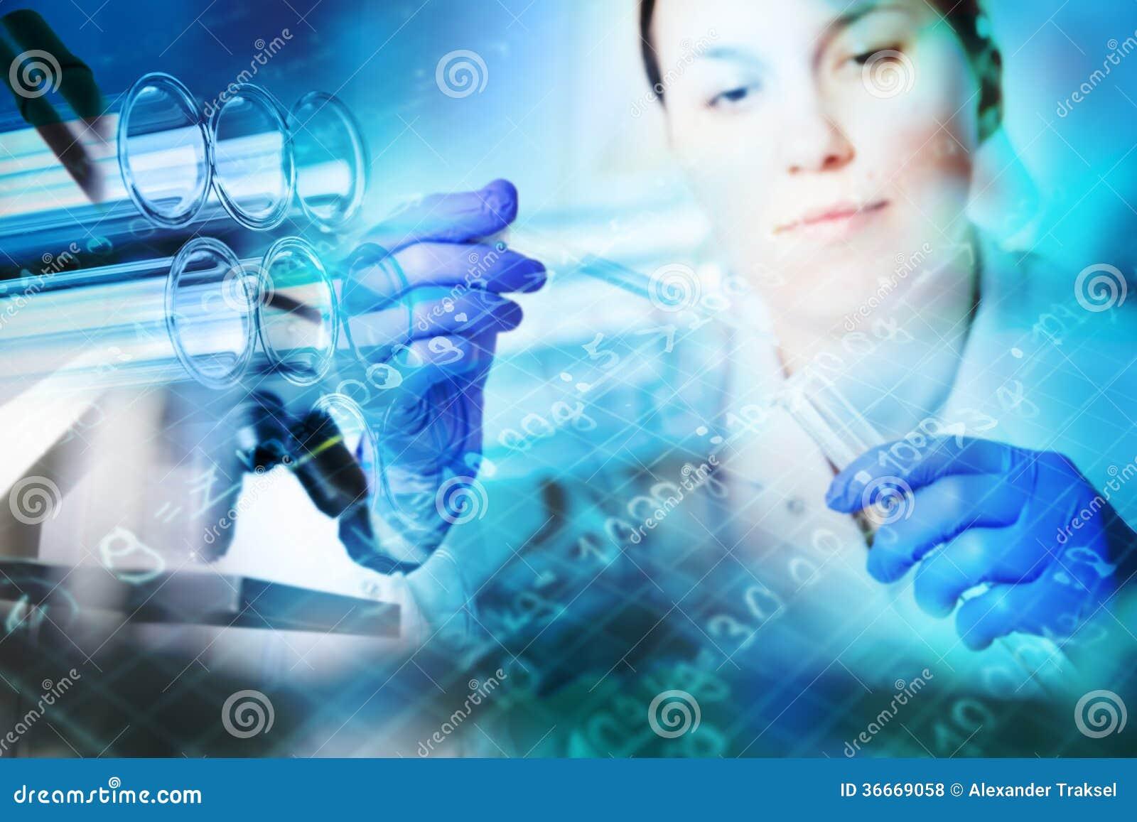 Primo piano delle provette, cristalleria medica