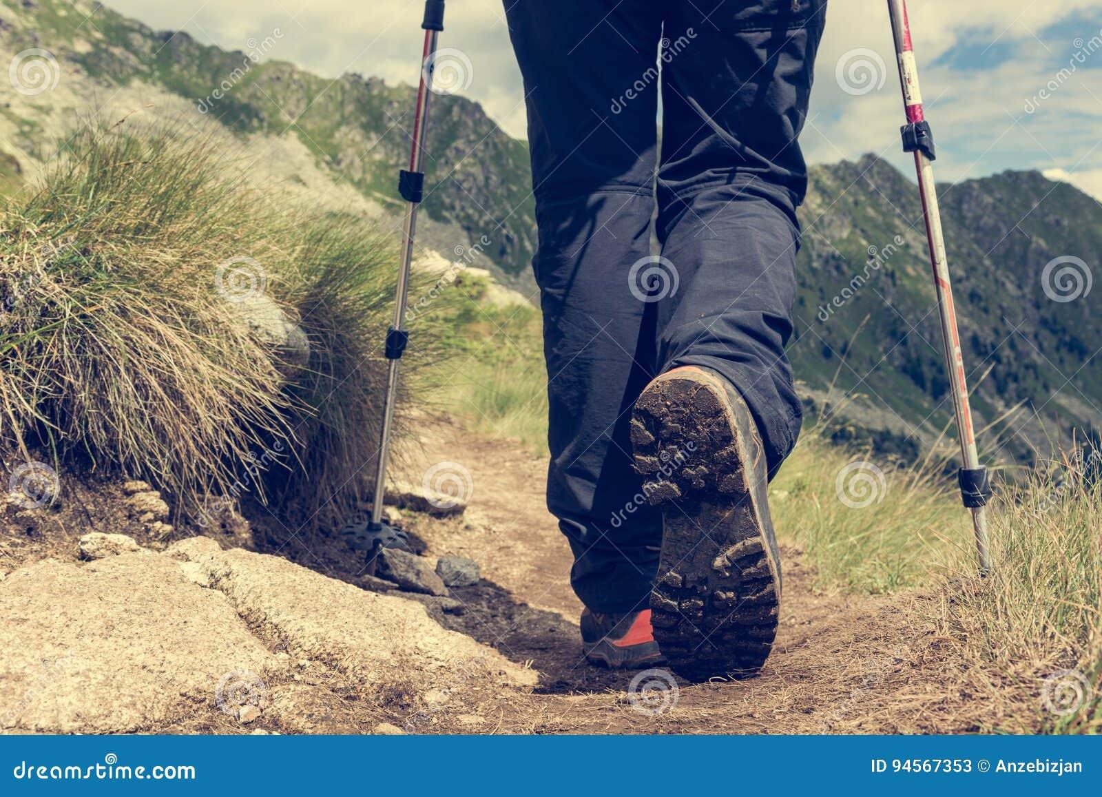 Primo piano di escursione degli stivali