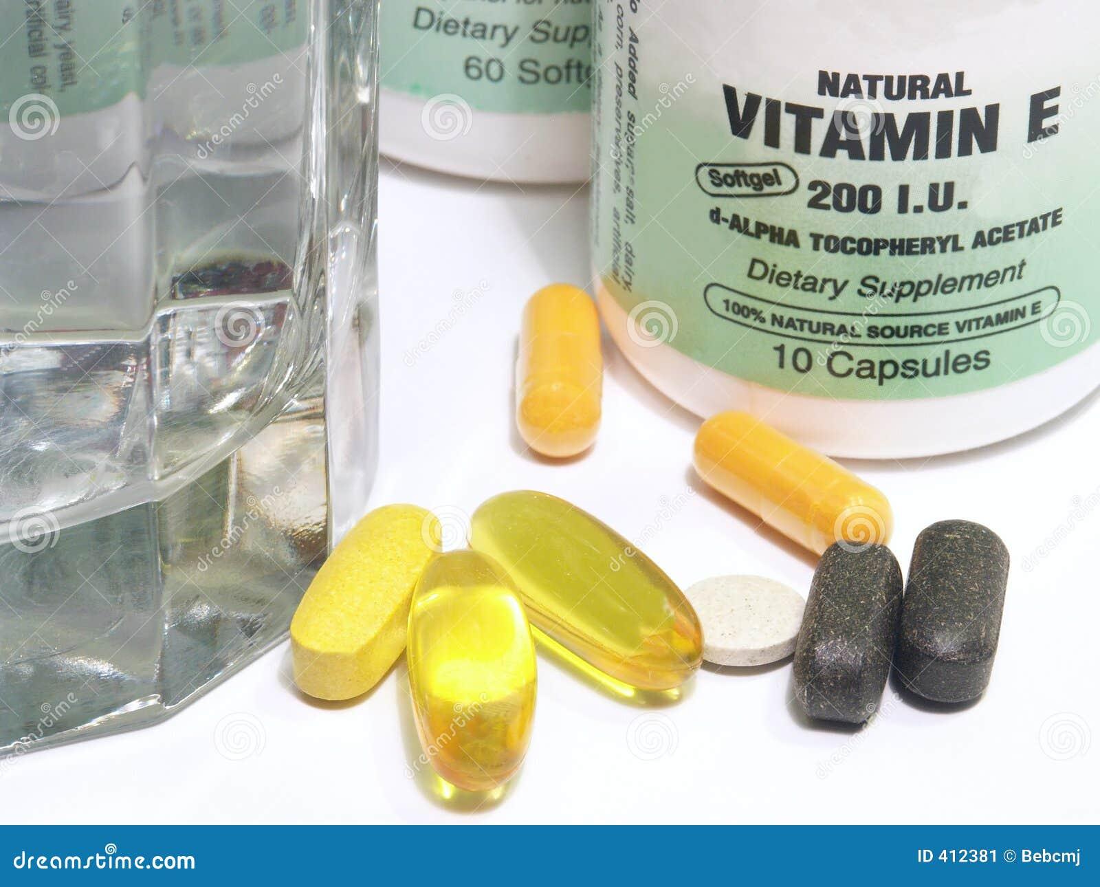 Primo piano di scena della vitamina