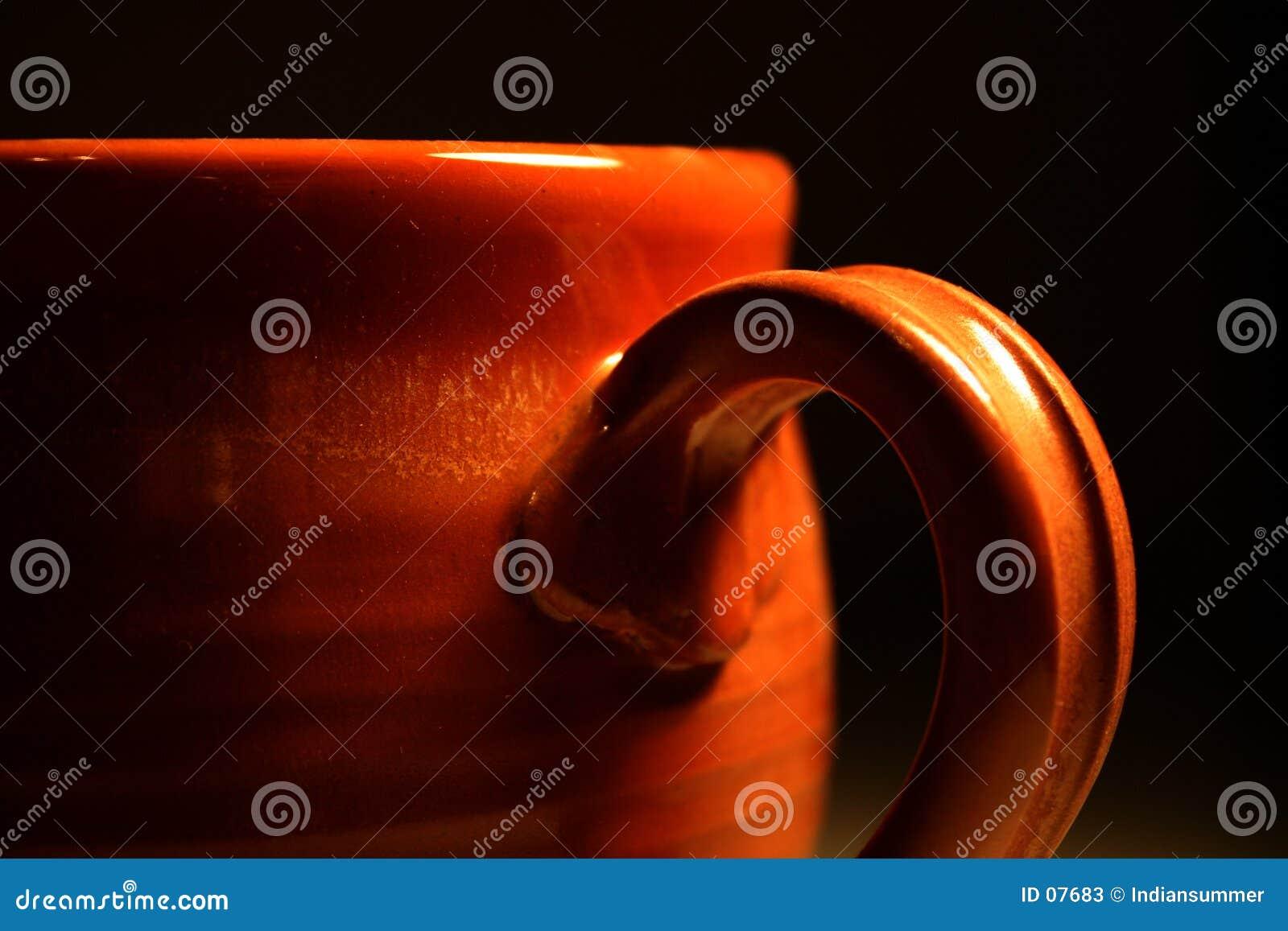 Primo piano di una tazza