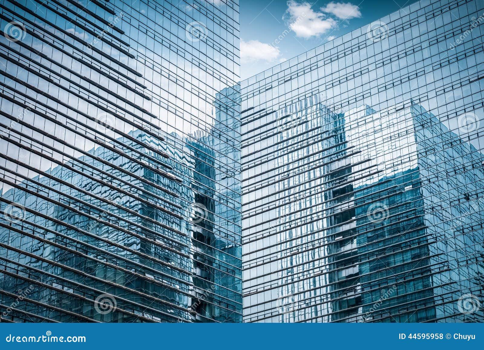 Primo piano di vetro del grattacielo fotografia stock for Disegno del piano di architettura