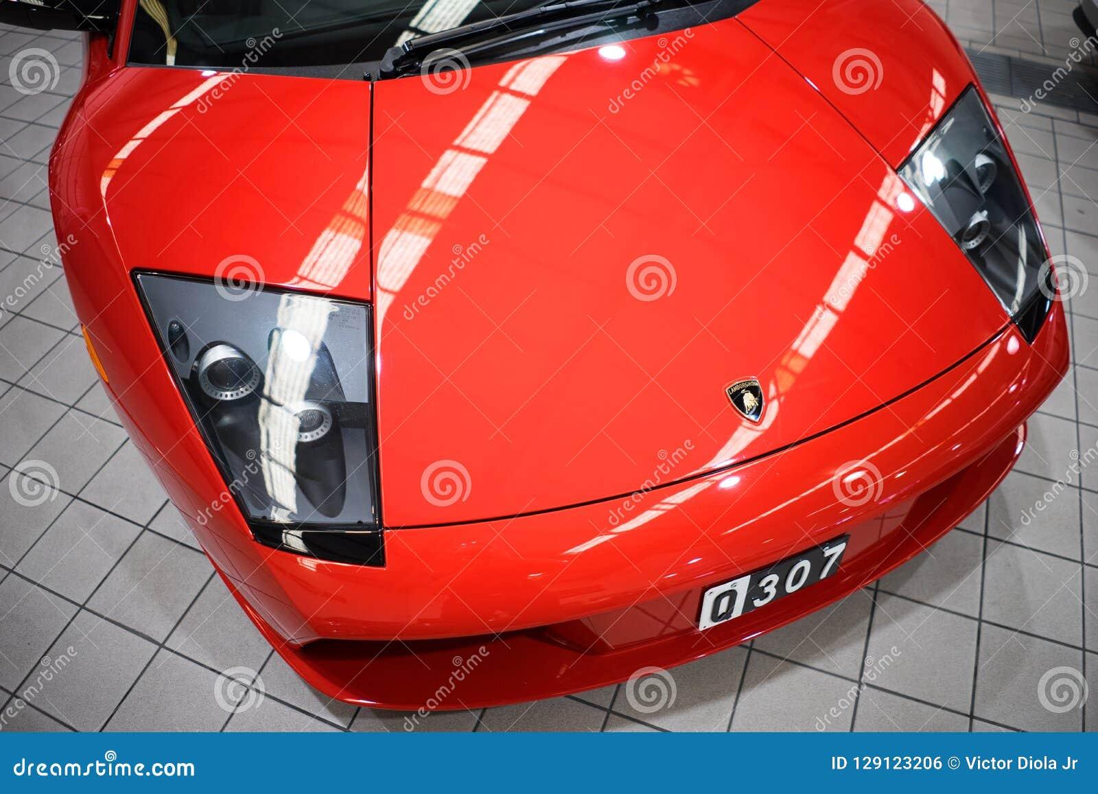 Primo piano Front Hood di Lamborghini Mucielago