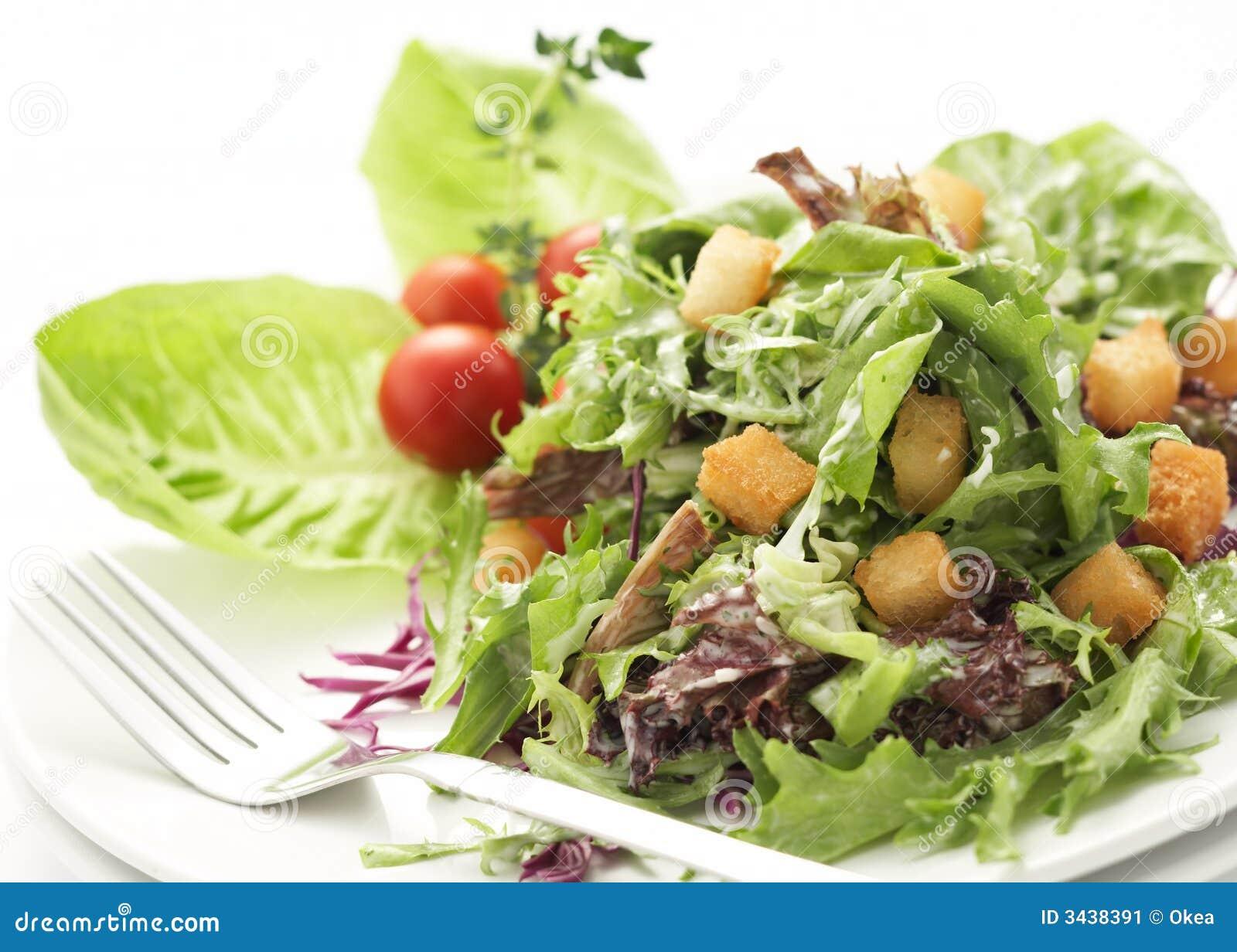 Primo piano su insalata verde