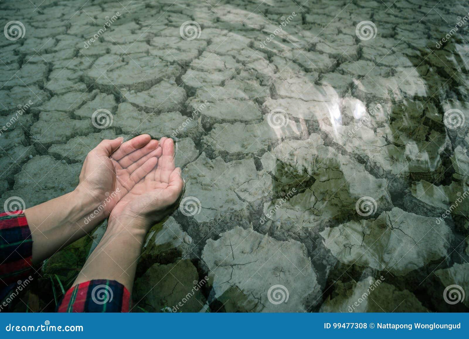 Primo piano a terra di siccità del fango della crepa