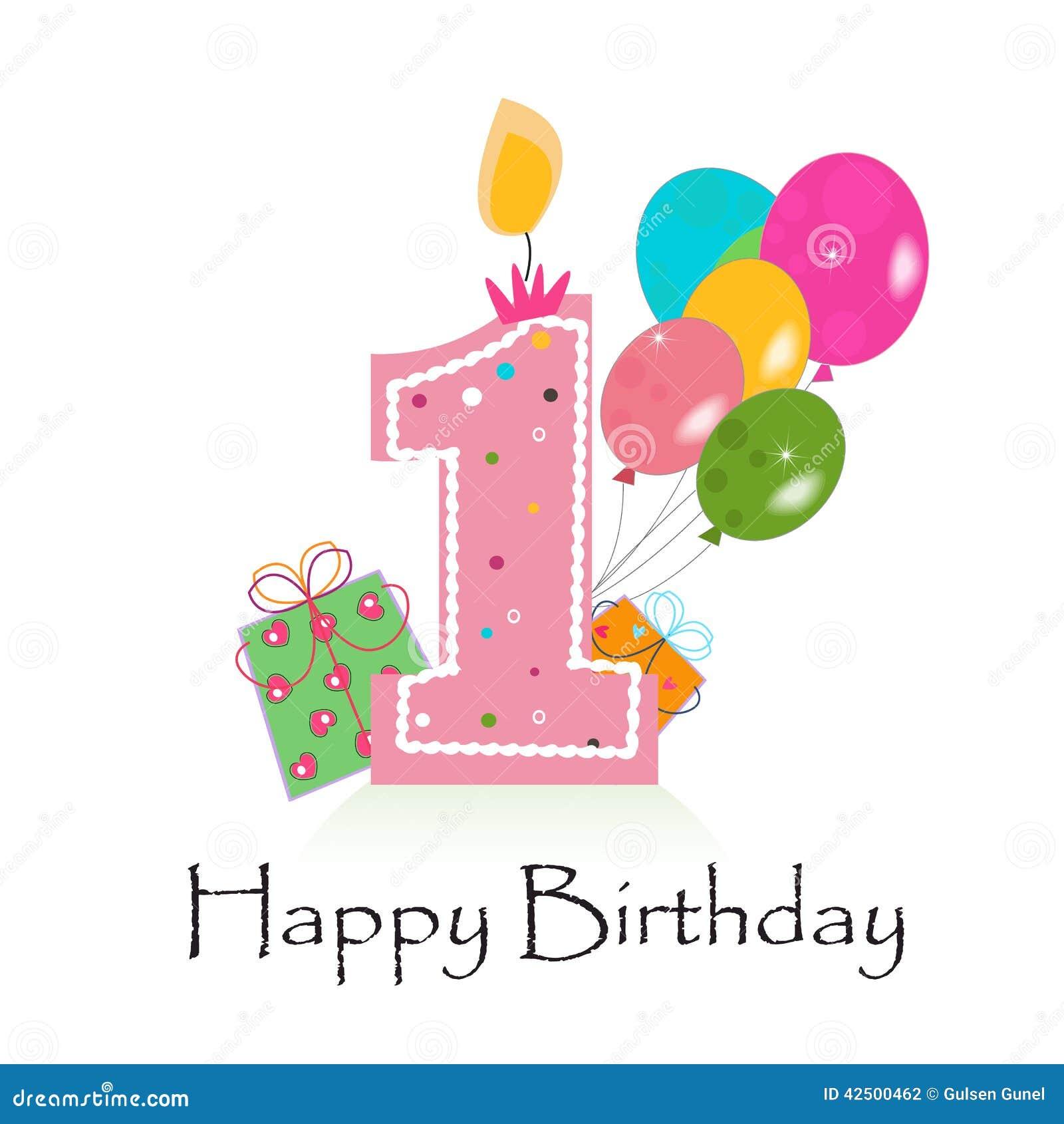 Amato Primo Vettore Felice Del Biglietto Di Auguri Per Il Compleanno Con  CS36