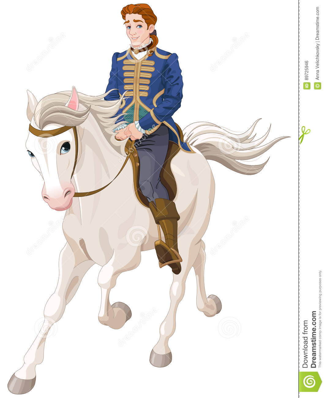 Prince Charming Riding A Horse Stock Vector - Illustration ...