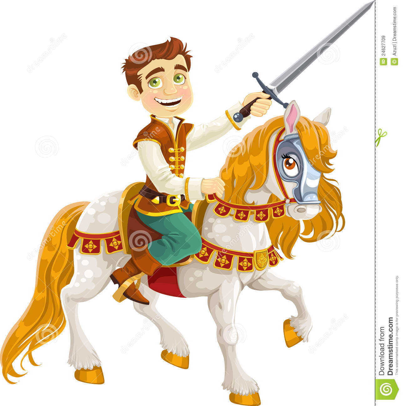 Prince Charming On A White Horse Royalty Free Stock Images ...