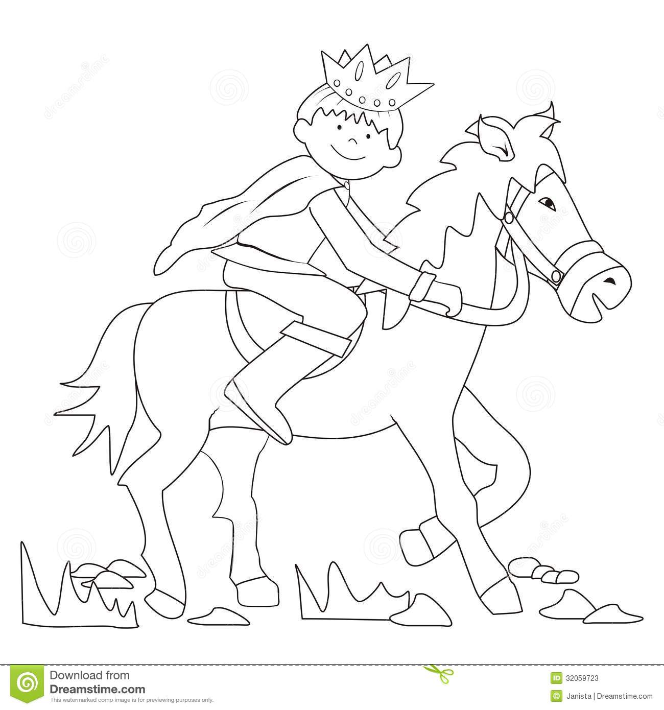 prince coloring - Prince Coloring Pages 2