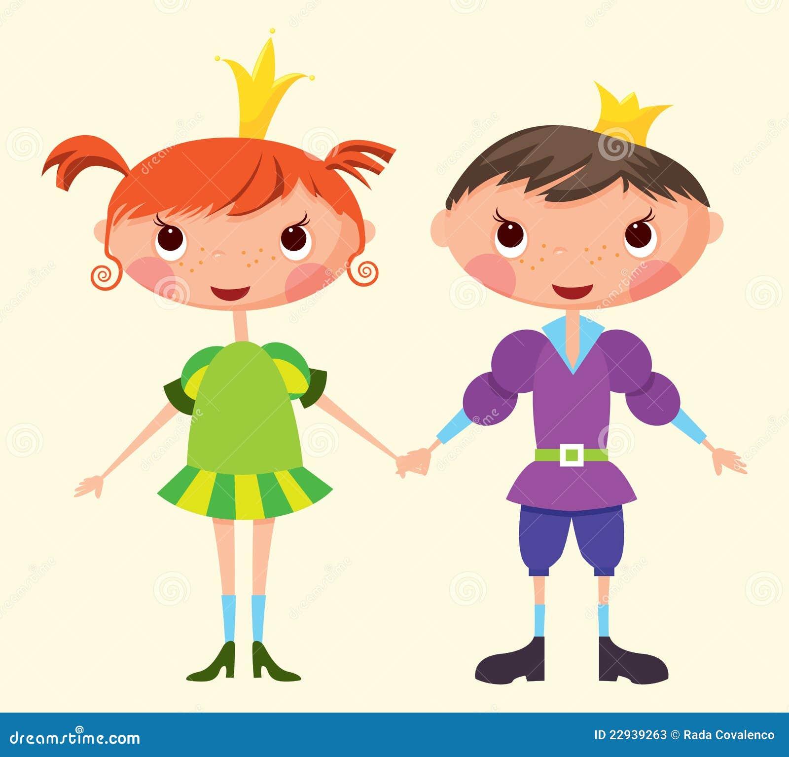 Prince et princesse illustration de vecteur illustration - Prince et princesse dessin ...