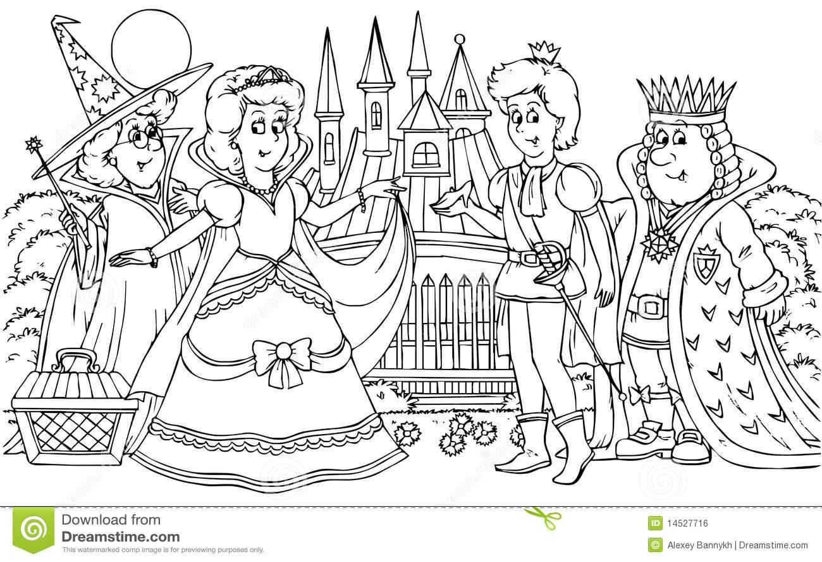 Kleurplaten Prinses Leonora Prince And Princess Stock Illustration Illustration Of
