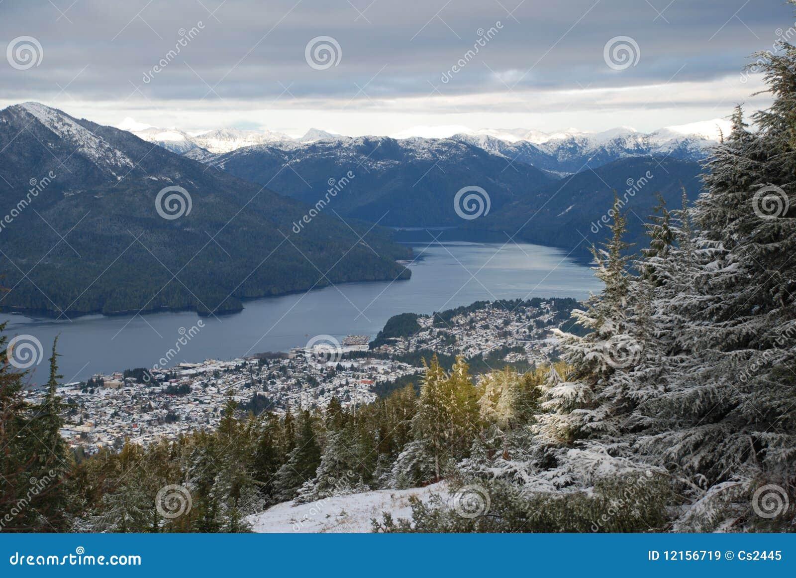 Prince Rupert, BC airial view