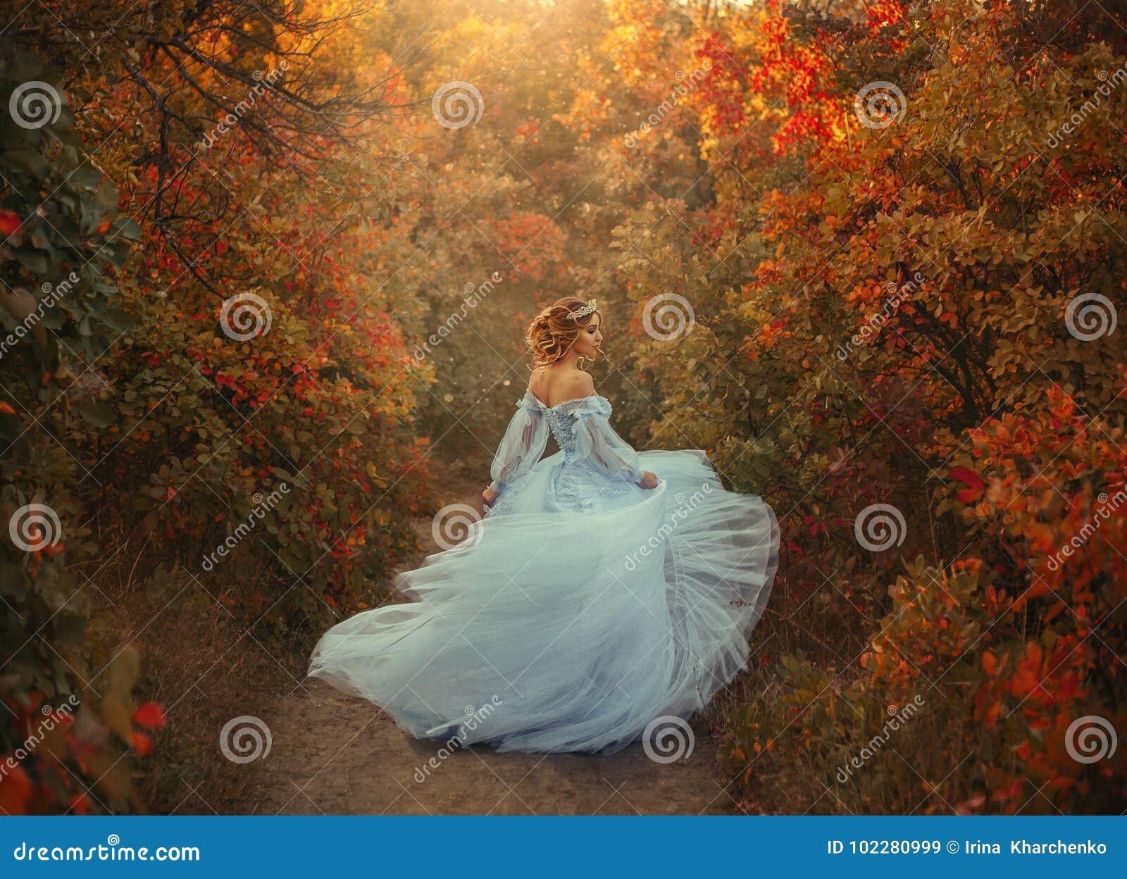 Princesa no jardim do outono