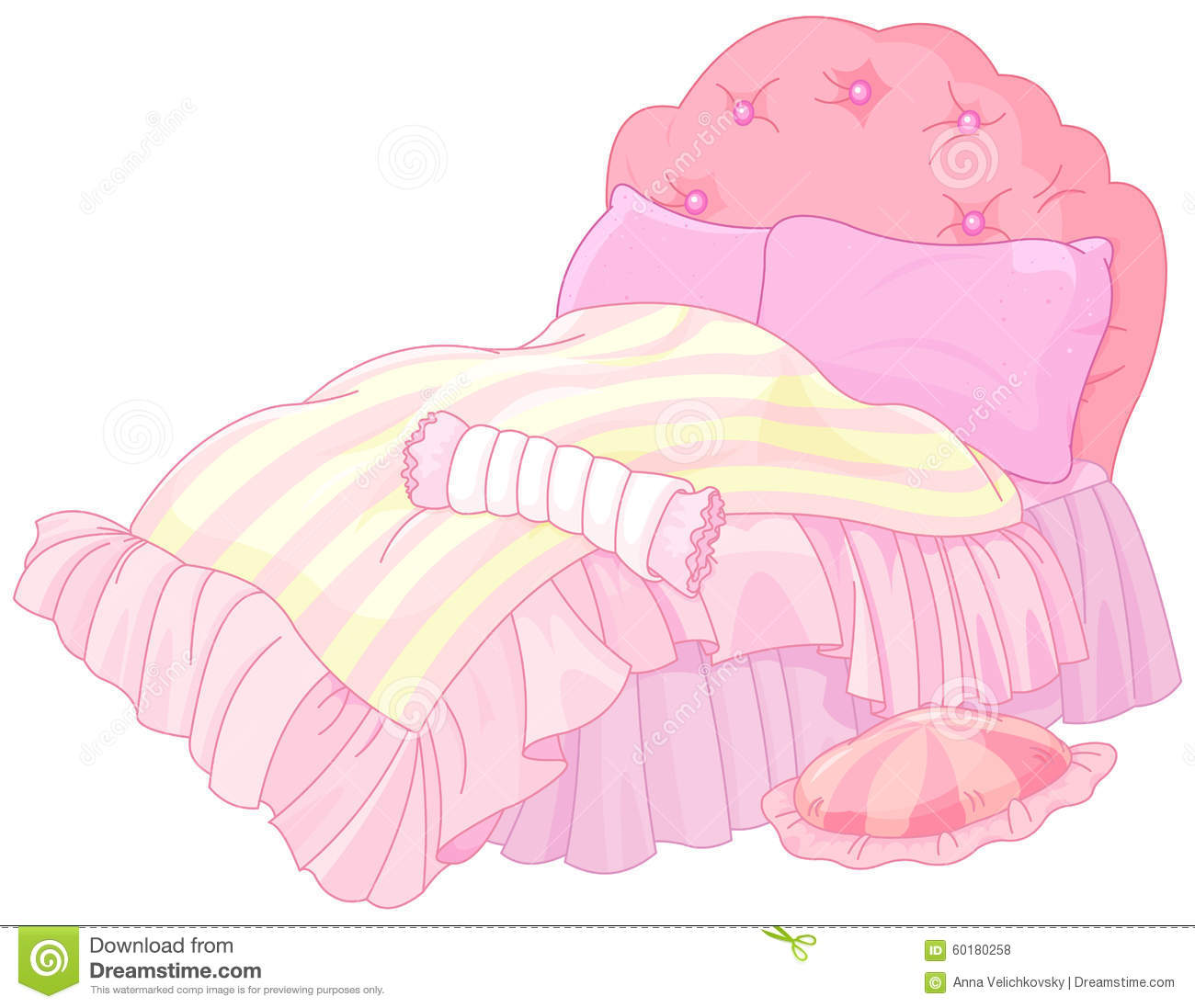 Princess Bed stock vector. Image of imagination, icons ...