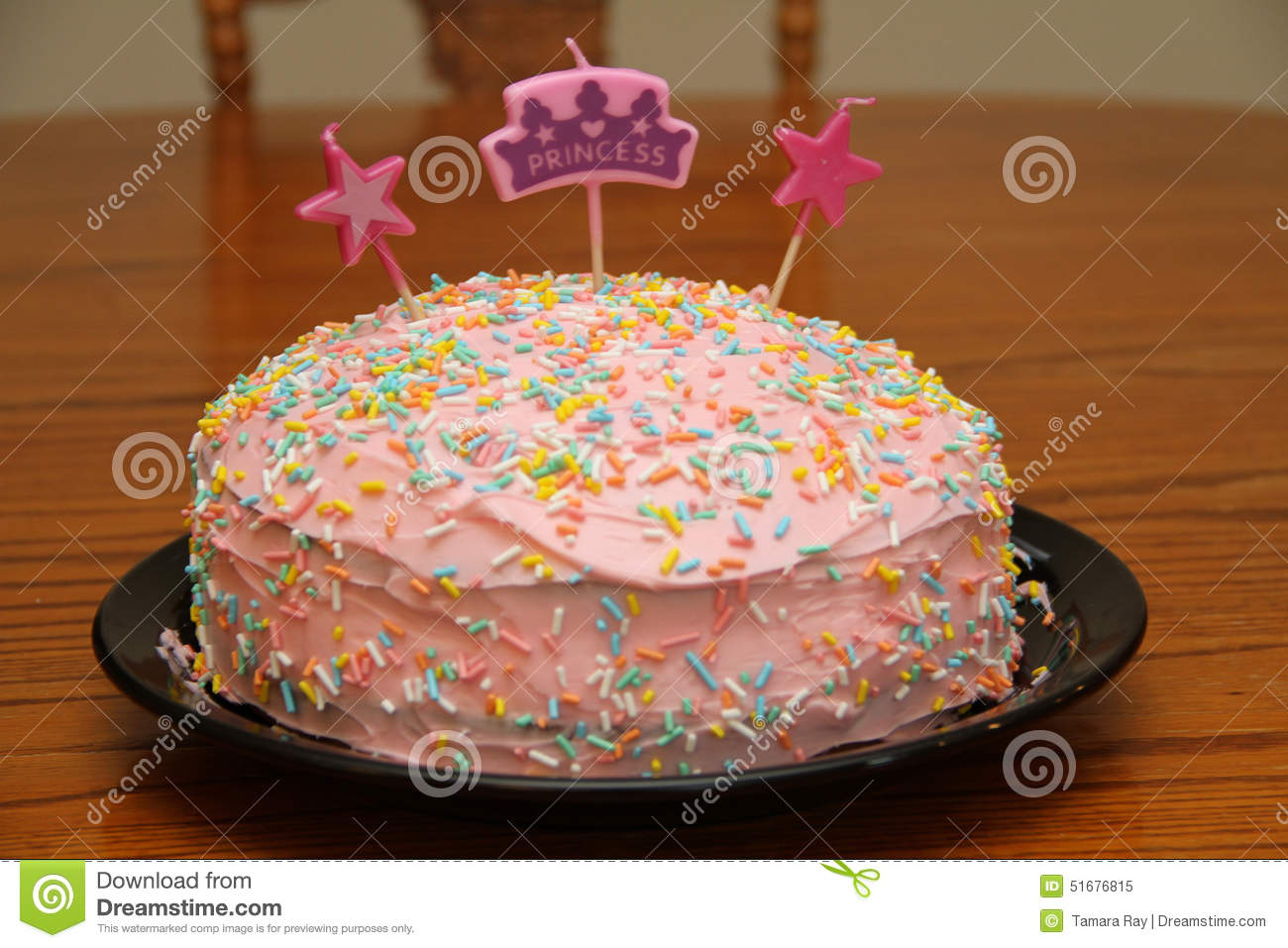 Wondrous Princess Birthday Cake Stock Image Image Of Pink Cream 51676815 Personalised Birthday Cards Veneteletsinfo