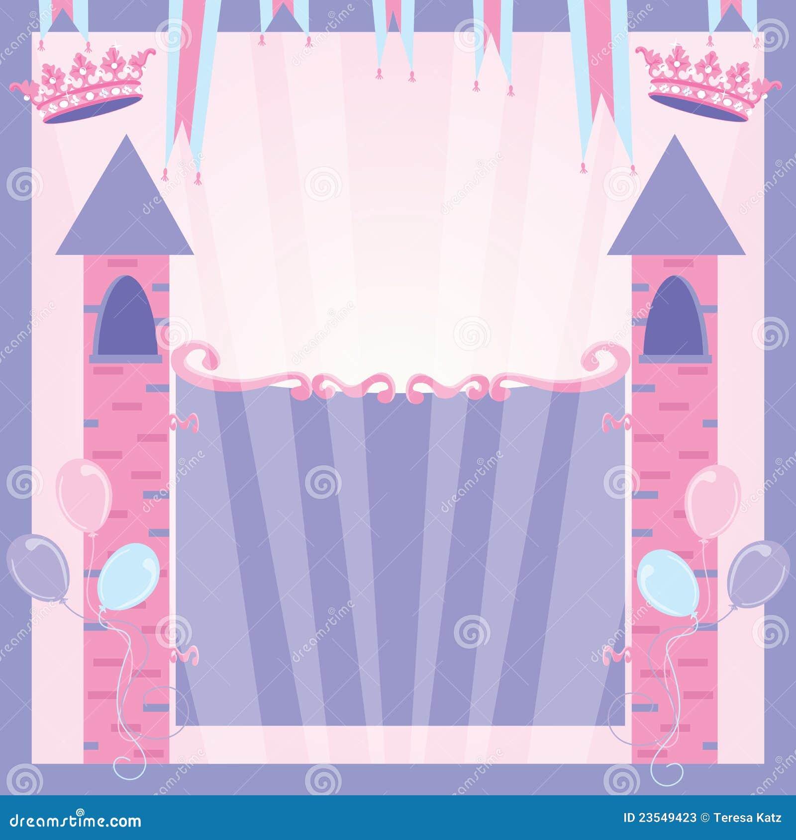 princess birthday party invitation castle stock photos  image, Birthday invitations