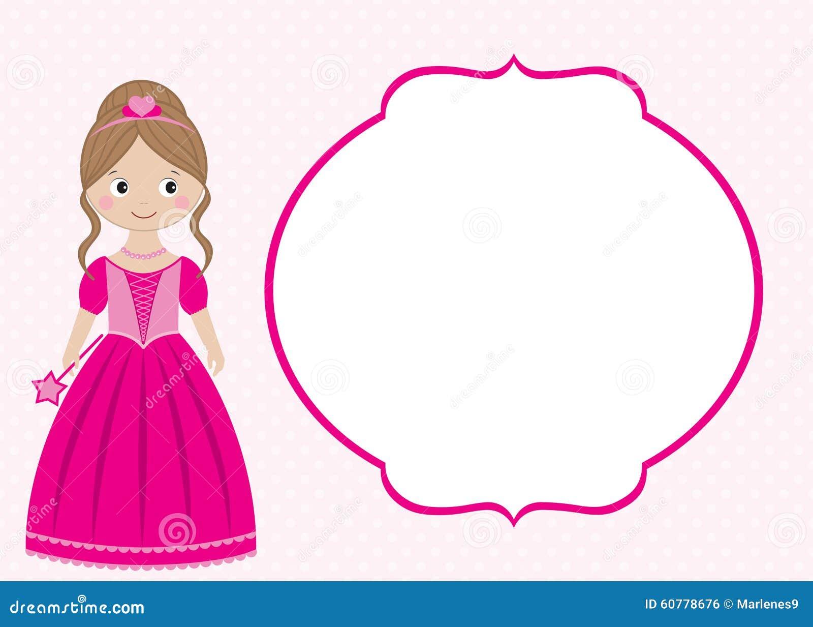 princess card stock vector image  princess card