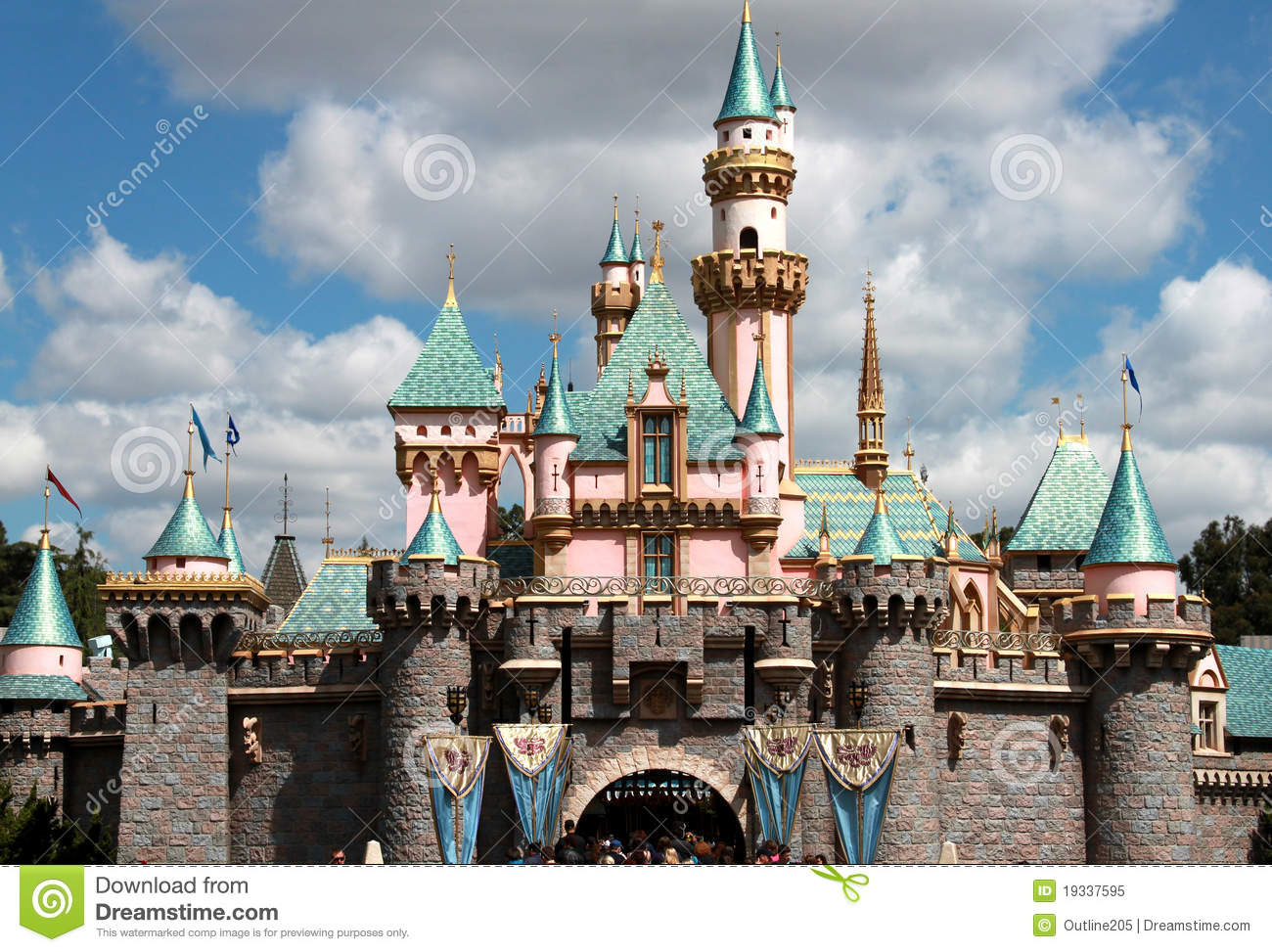 Princess Castle In Disneyland Editorial Image Image