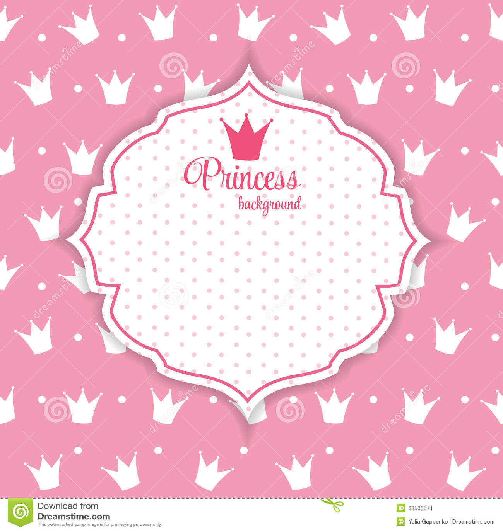 Princess Crown Background Vector Illustration Stock Vector