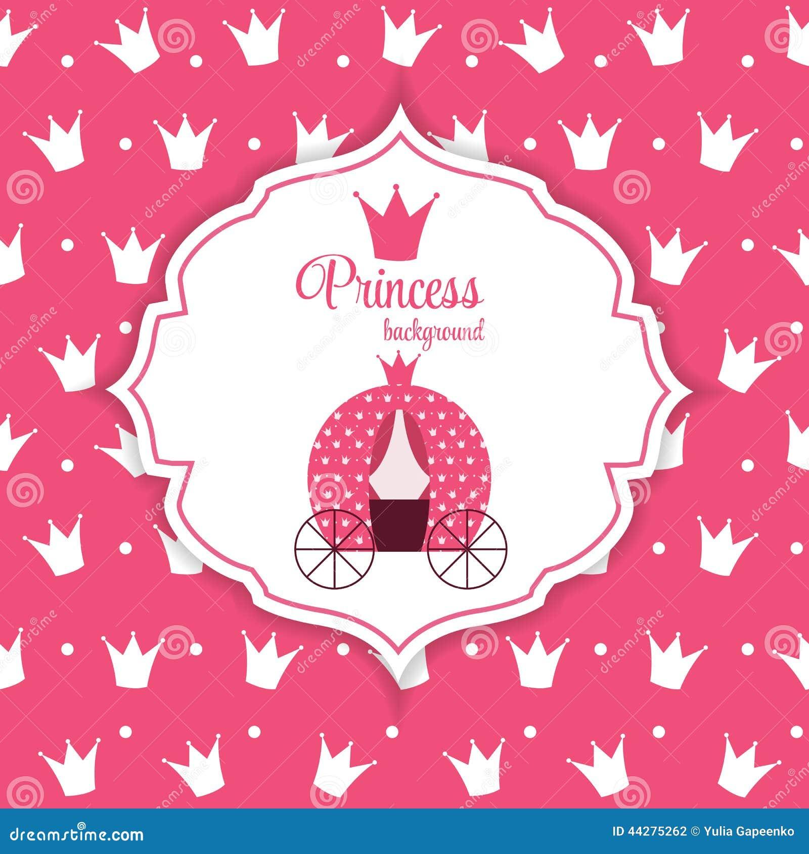 princess crown background vector illustration stock