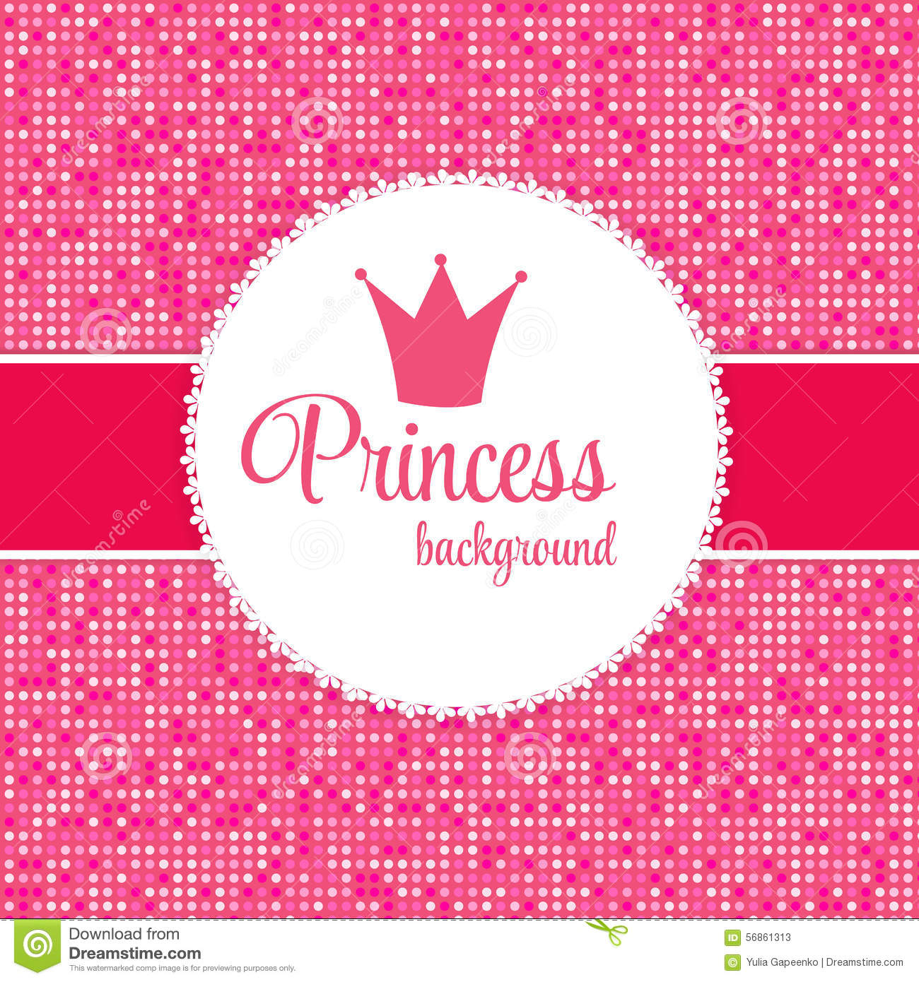 princess crown frame vector illustration stock photos