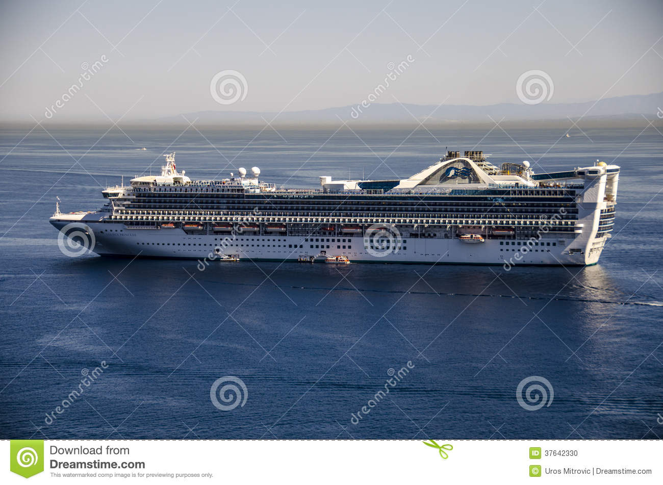 PRINCESS CRUISES SHIP CATALINA ISLAND Editorial Image